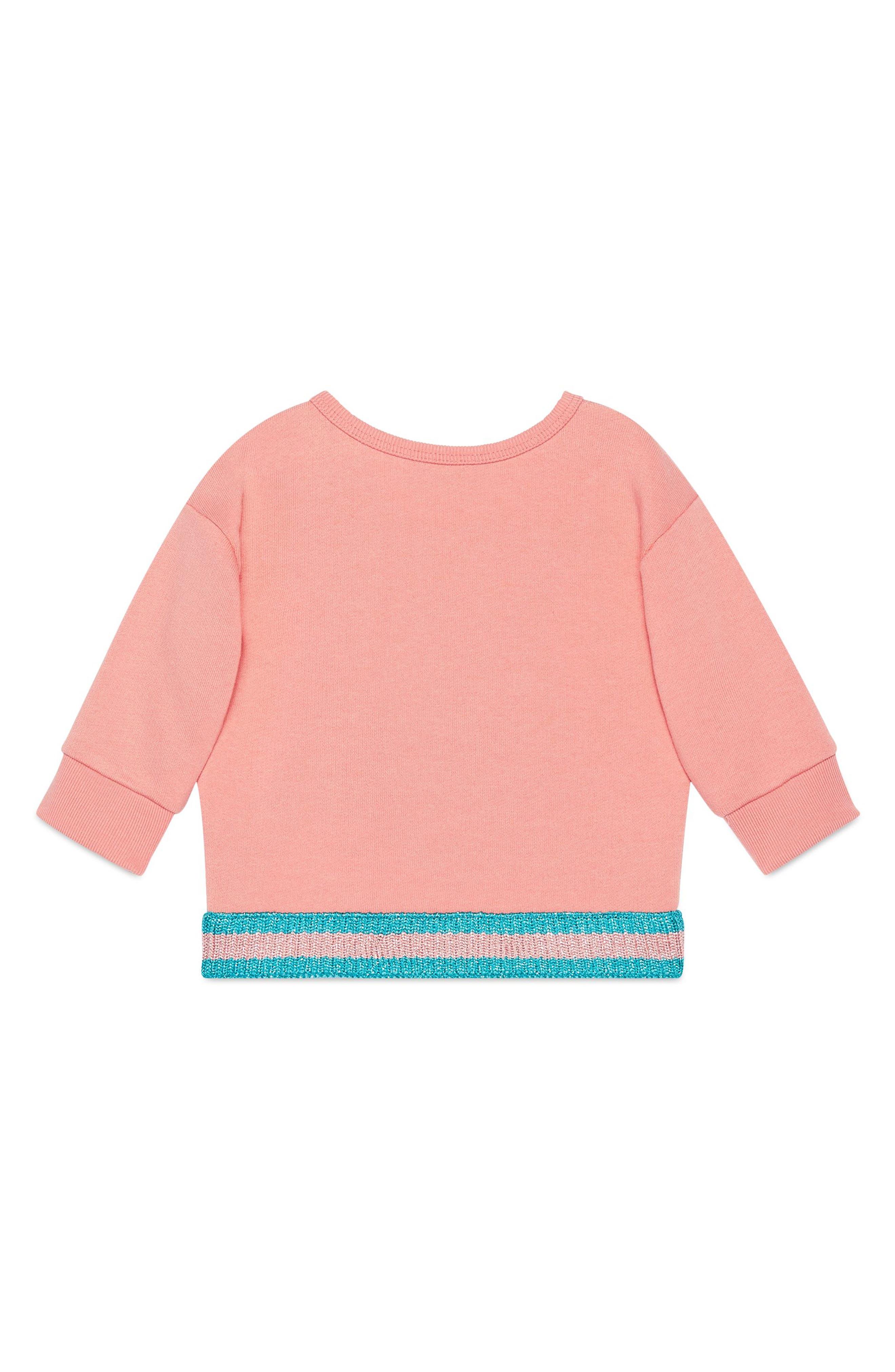 Kitten Graphic Cotton Sweatshirt,                             Alternate thumbnail 2, color,                             662