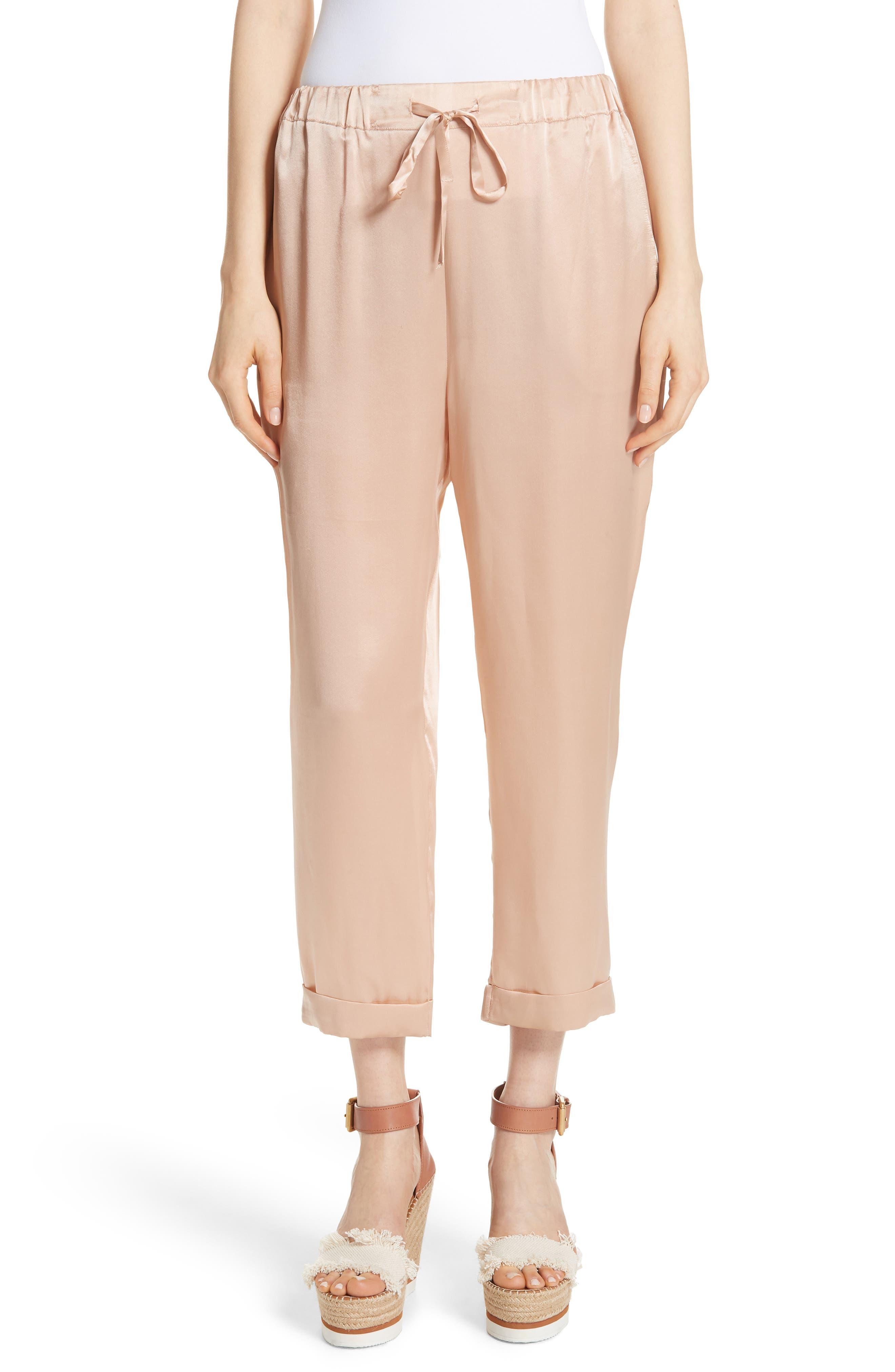 Fester Silk Ankle Pants,                         Main,                         color, 250