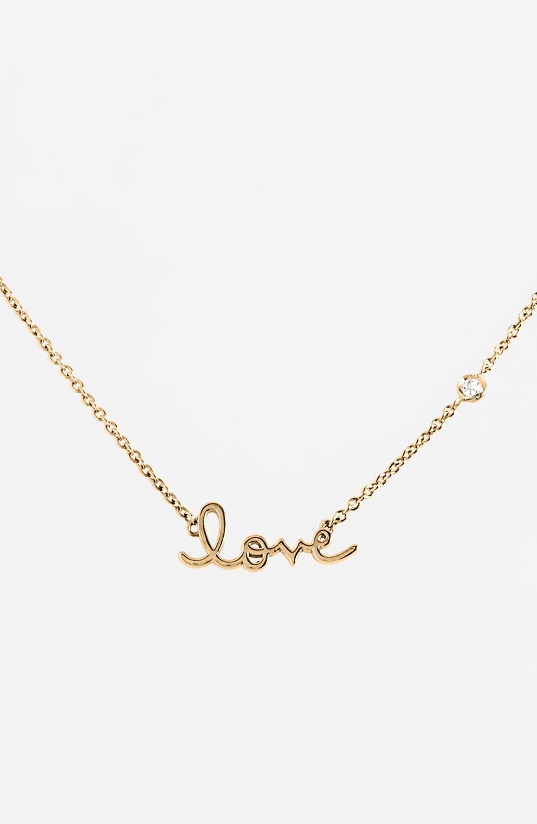 Love Necklace,                             Main thumbnail 1, color,                             GOLD
