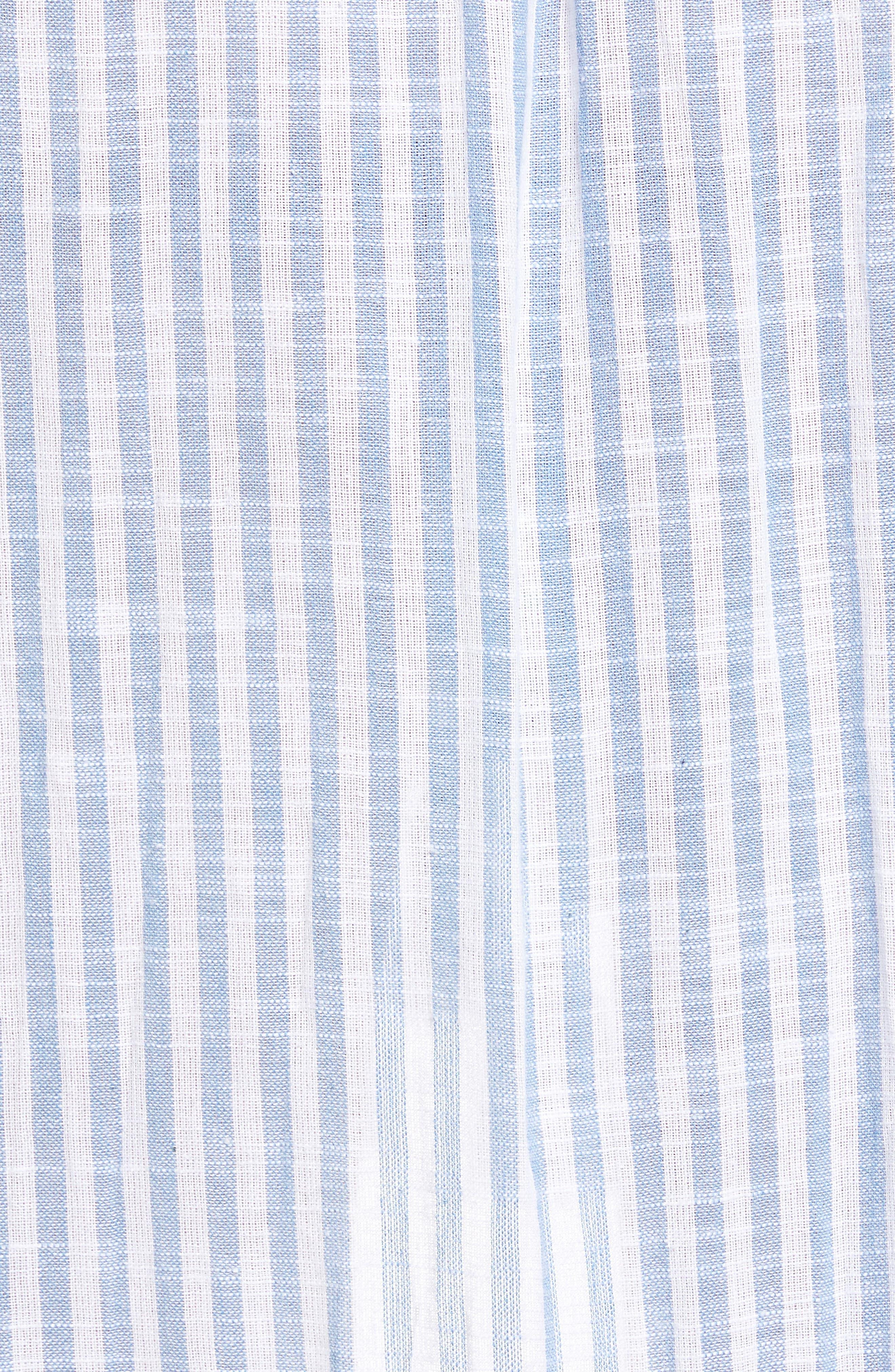 Rosero Ruffle High/Low Skirt,                             Alternate thumbnail 5, color,                             BLUE STRIPE