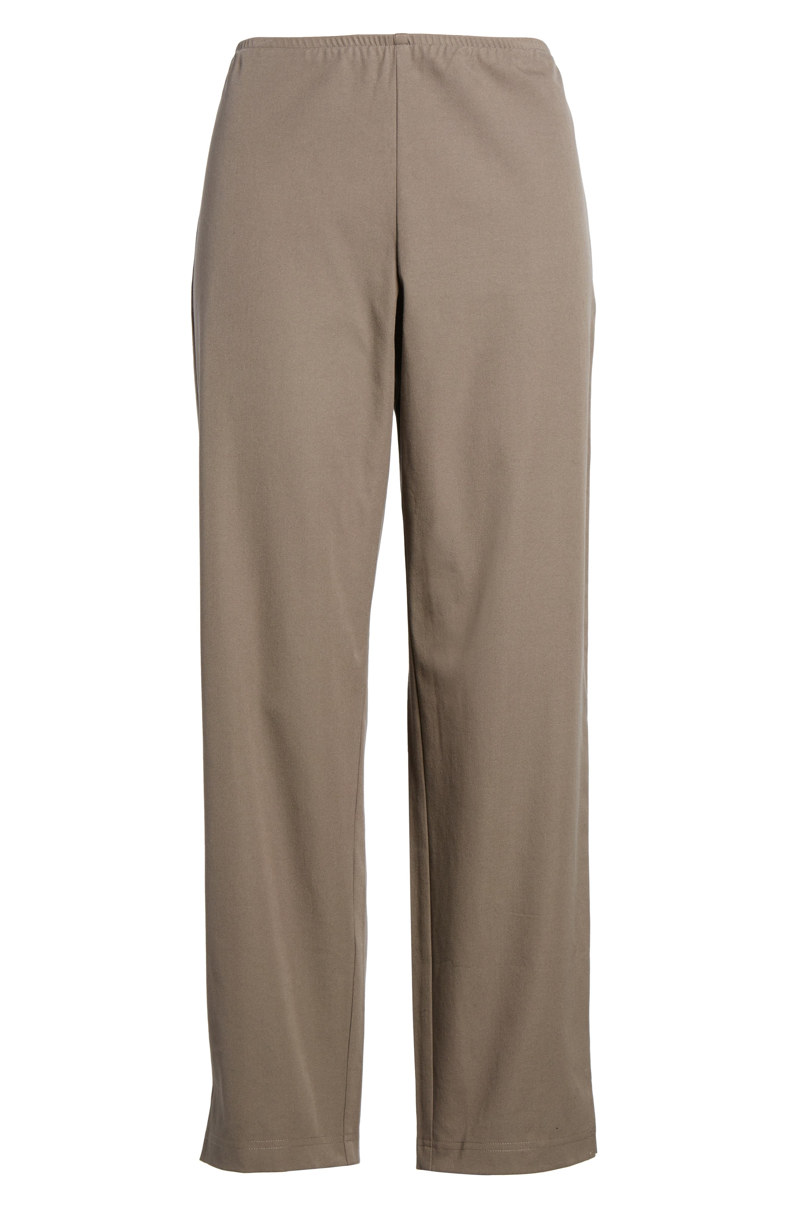 Organic Stretch Cotton Twill Ankle Pants,                             Alternate thumbnail 50, color,