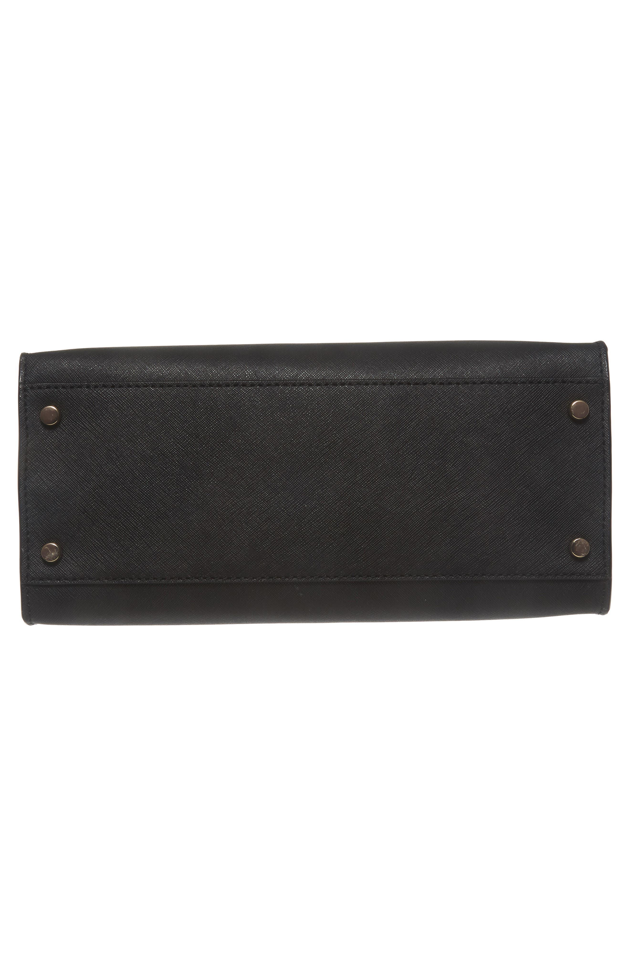 cameron street - sara leather satchel,                             Alternate thumbnail 6, color,                             001