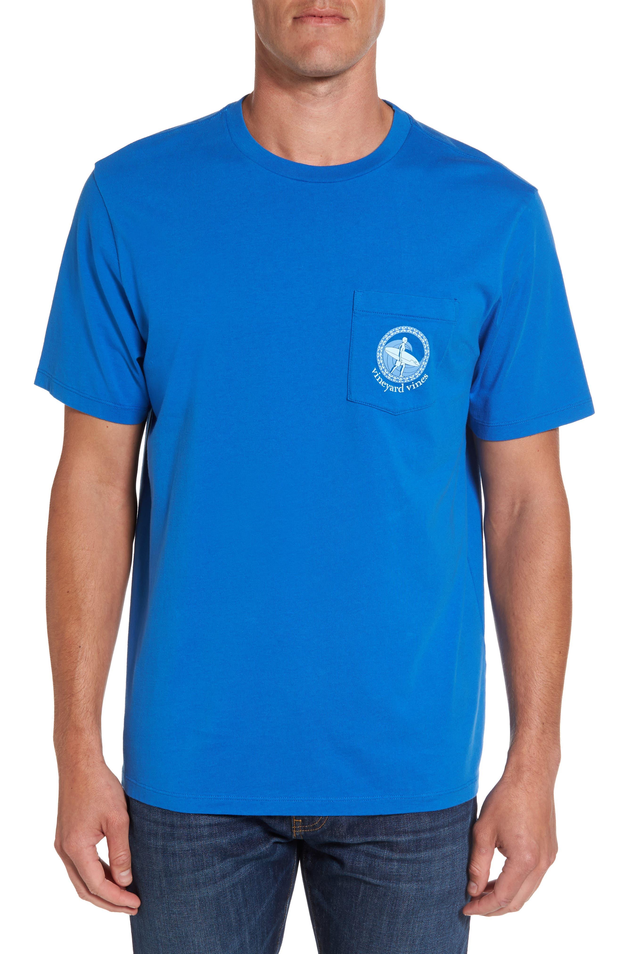 Surf Wave Graphic Pocket T-Shirt,                             Main thumbnail 1, color,                             427
