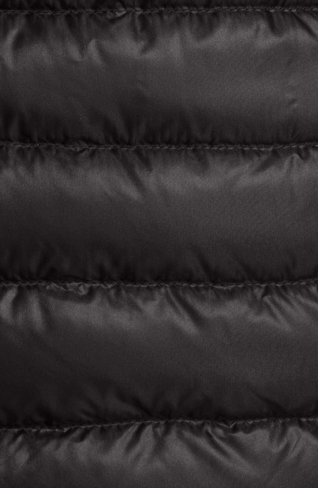 'Barbel' Belted Hooded Down Coat,                             Alternate thumbnail 3, color,                             001