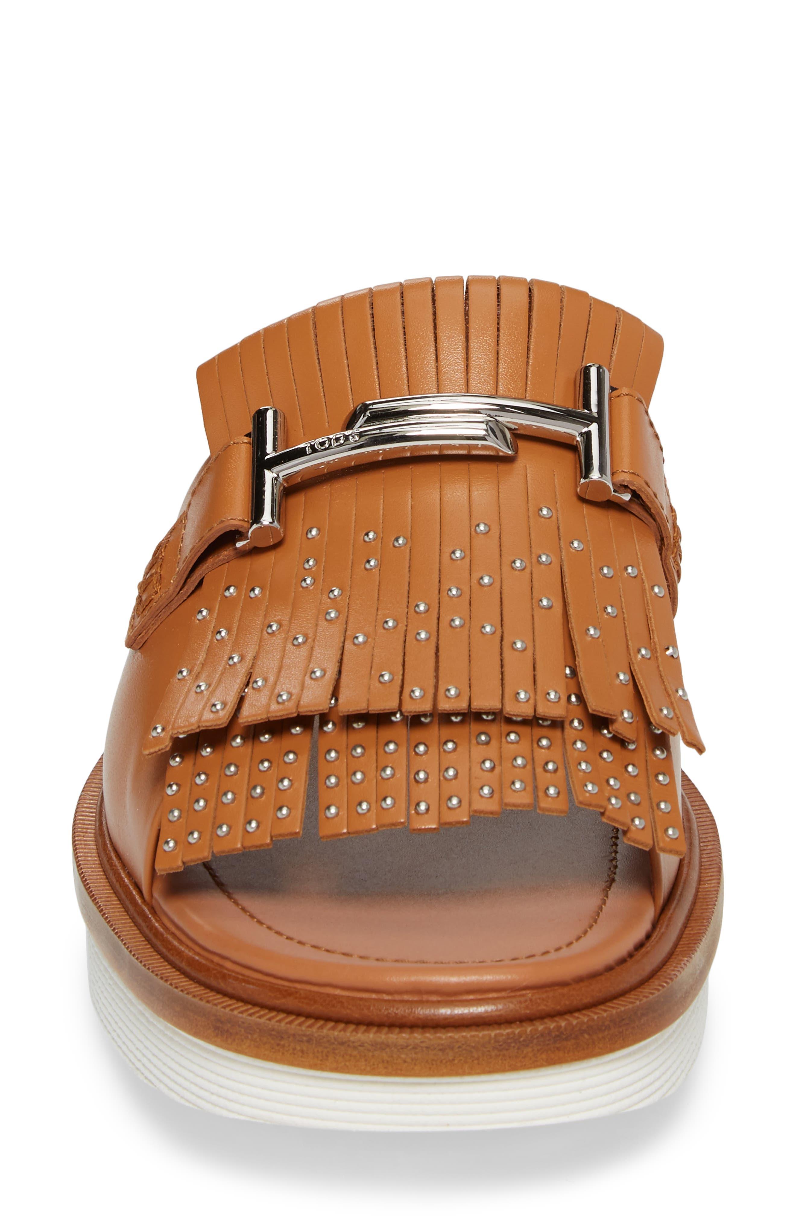Studded Fringe Slide Sandal,                             Alternate thumbnail 12, color,