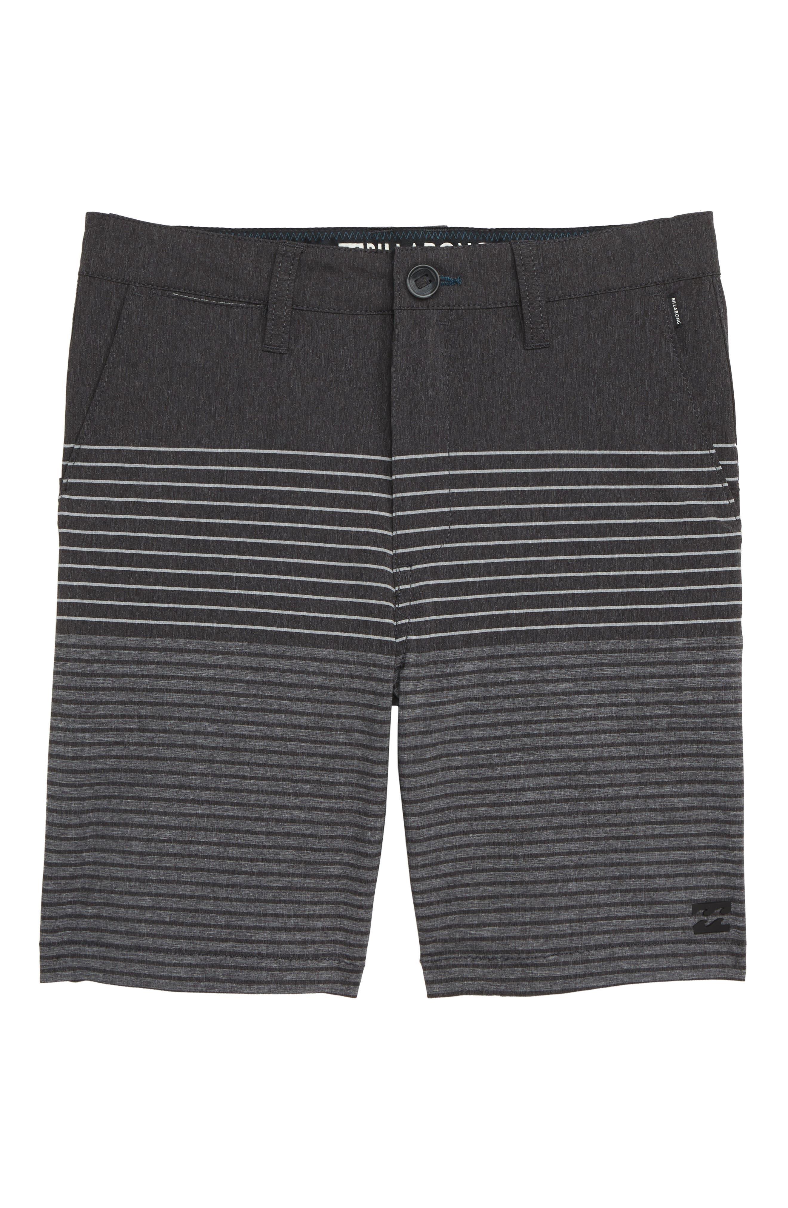 Boys Billabong Crossfire X Stripe Hybrid Shorts Size 30  Grey