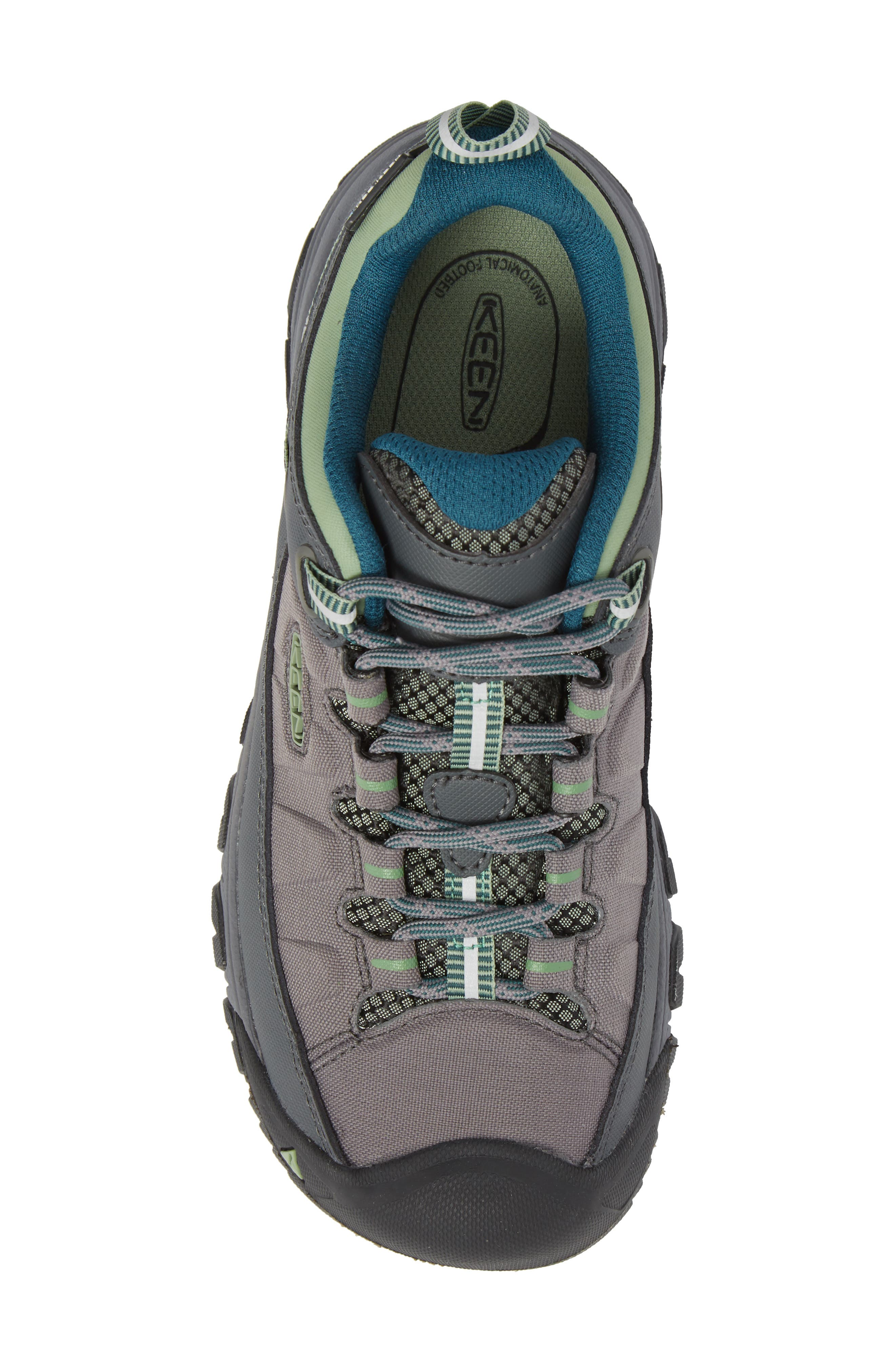 Targhee EXP Waterproof Hiking Shoe,                             Alternate thumbnail 5, color,                             STEEL GREY/ BASIL