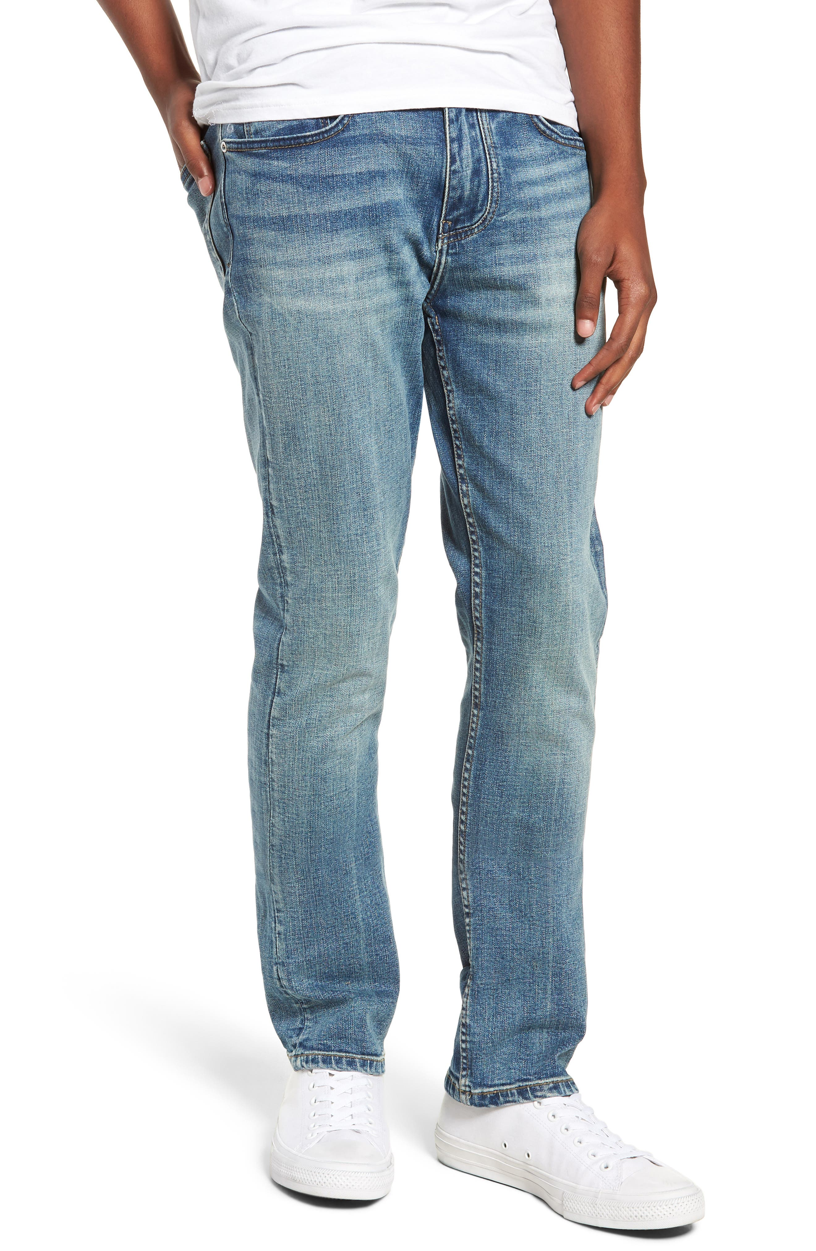 Wooster Selvedge Slim Fit Jeans,                             Main thumbnail 1, color,                             LIGHT WORK