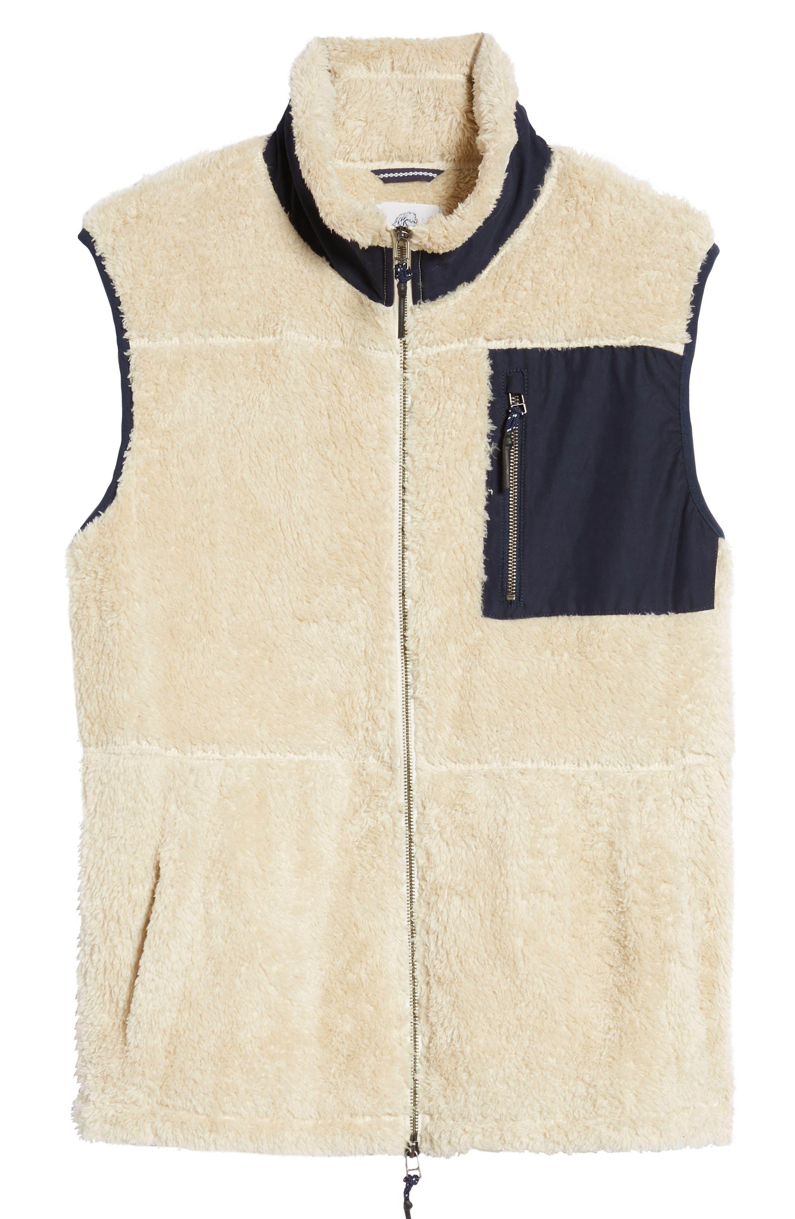 Colorblock Fleece Vest,                             Alternate thumbnail 6, color,                             103