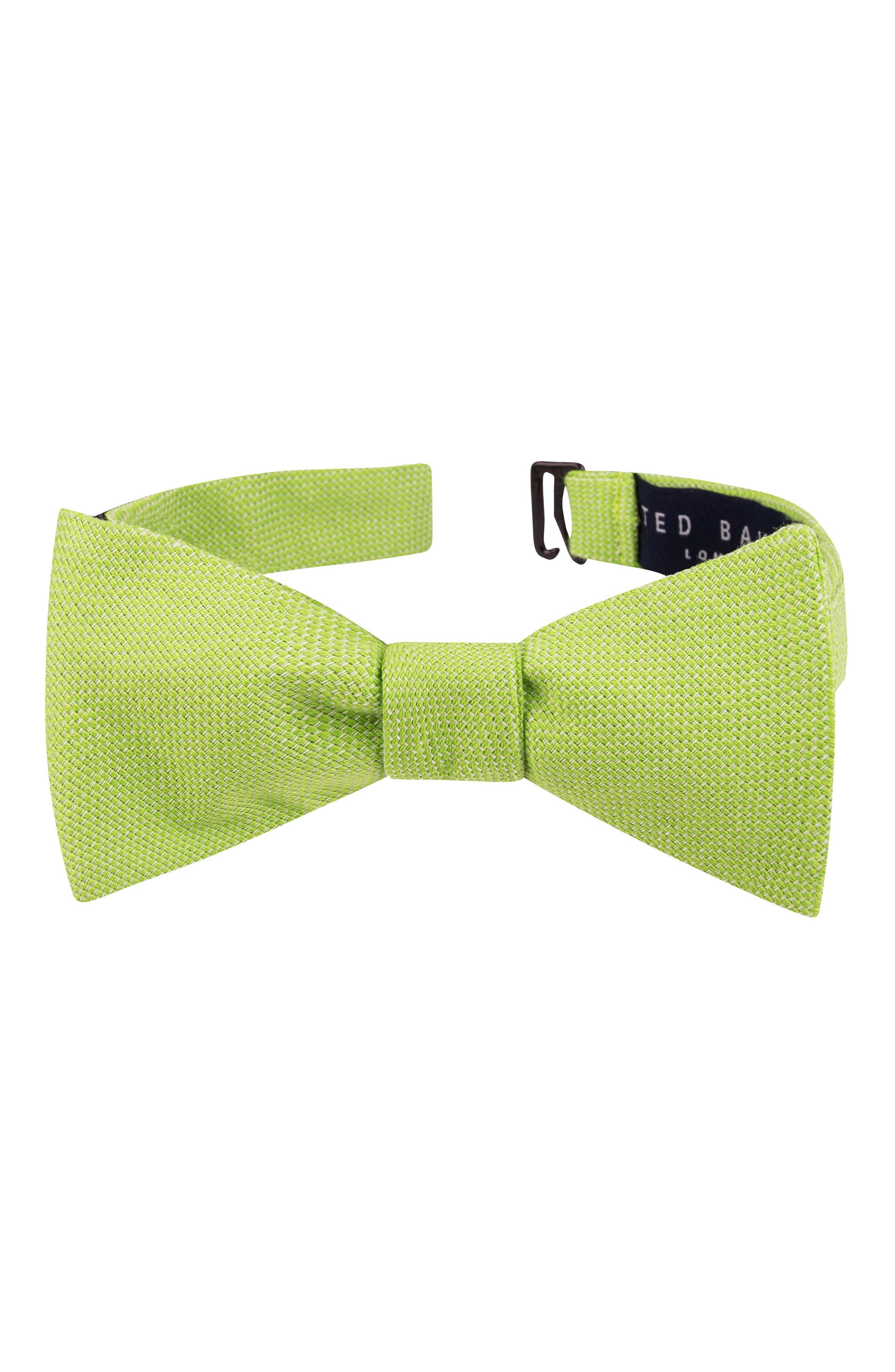 Solid Cotton Bow Tie,                             Main thumbnail 1, color,