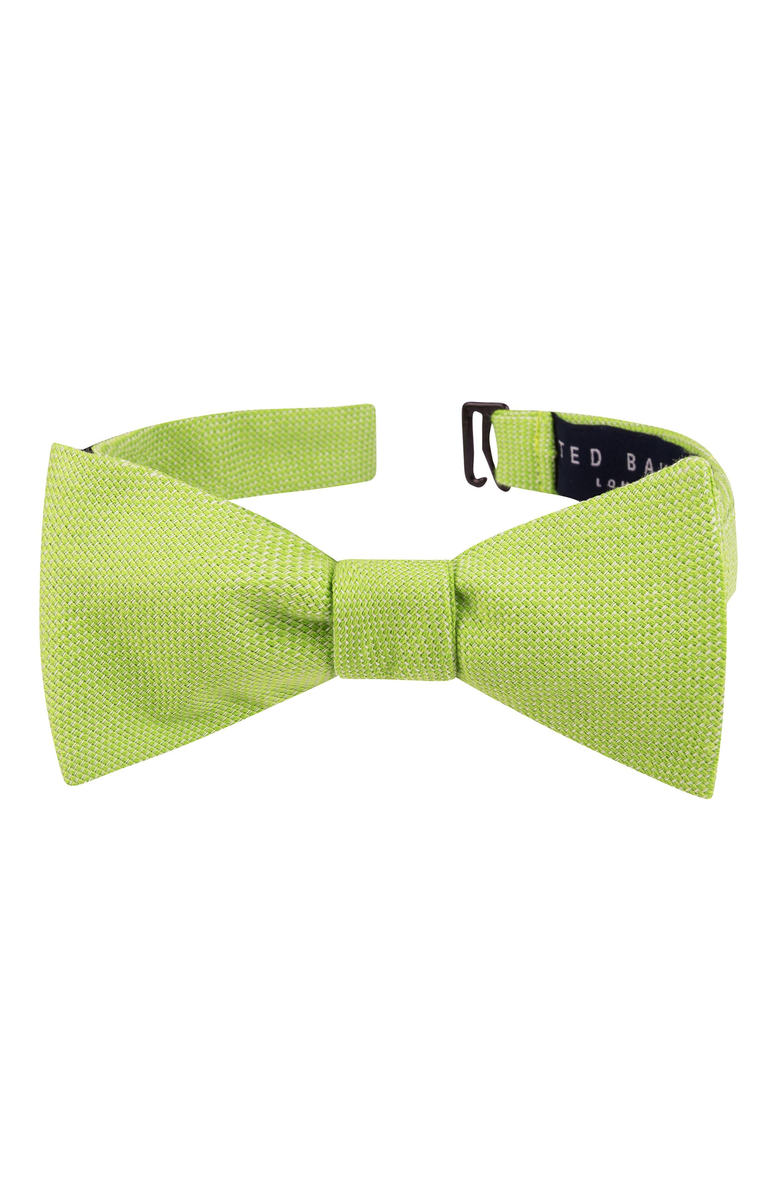 Solid Cotton Bow Tie,                         Main,                         color, 322