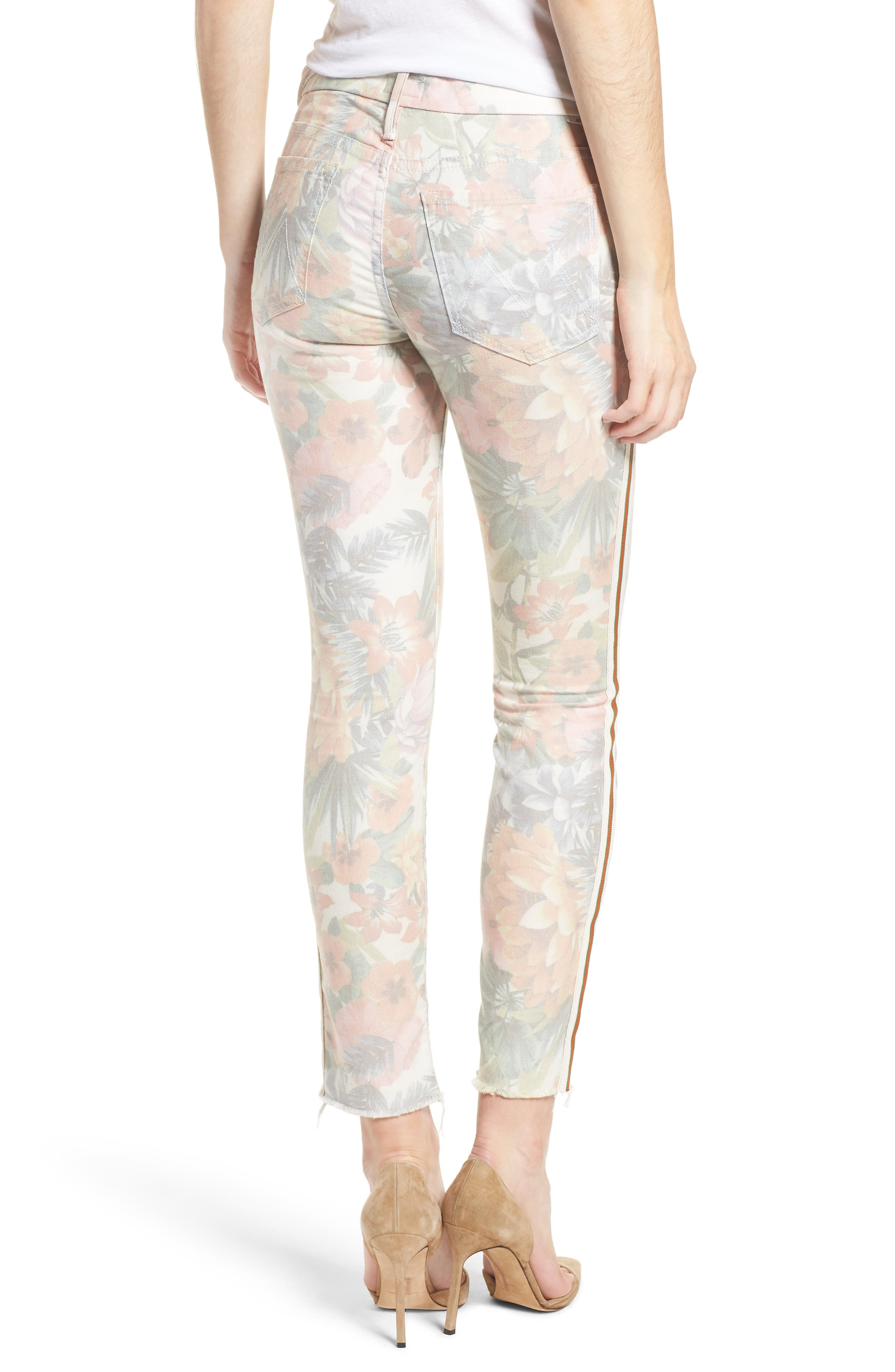The Looker Floral Frayed Ankle Jeans,                             Alternate thumbnail 2, color,                             653