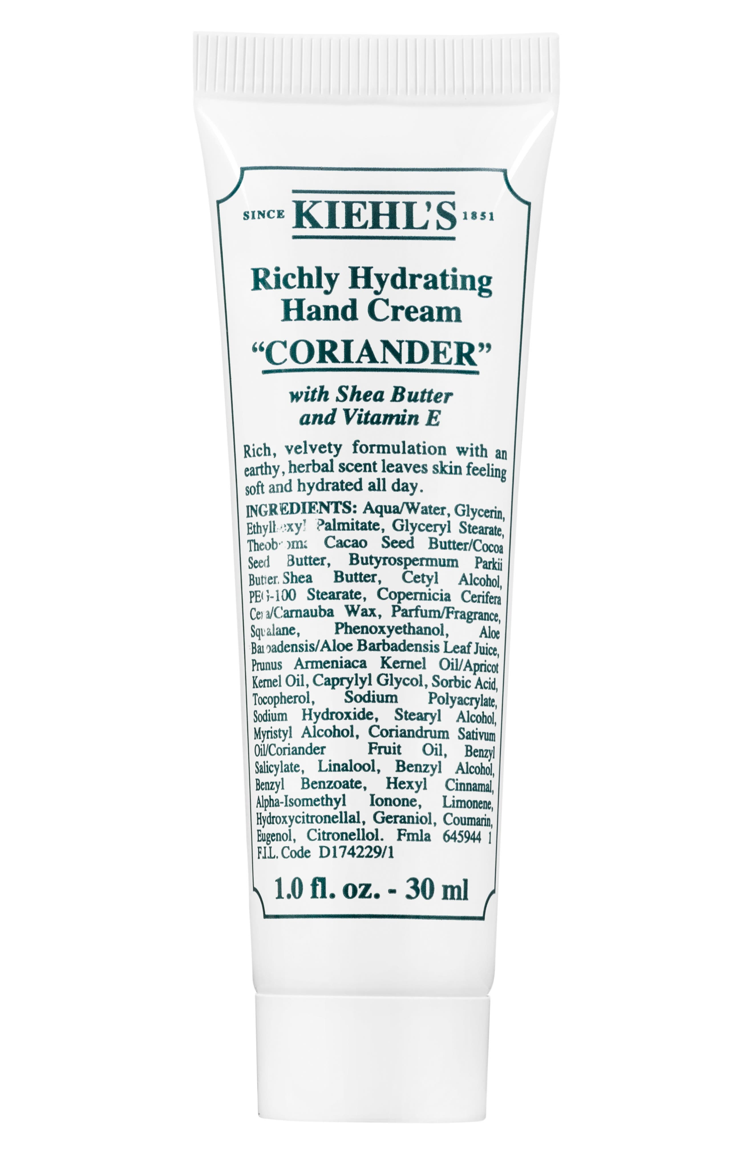 Coriander Richly Hydrating Scented Cream,                             Alternate thumbnail 2, color,                             NO COLOR