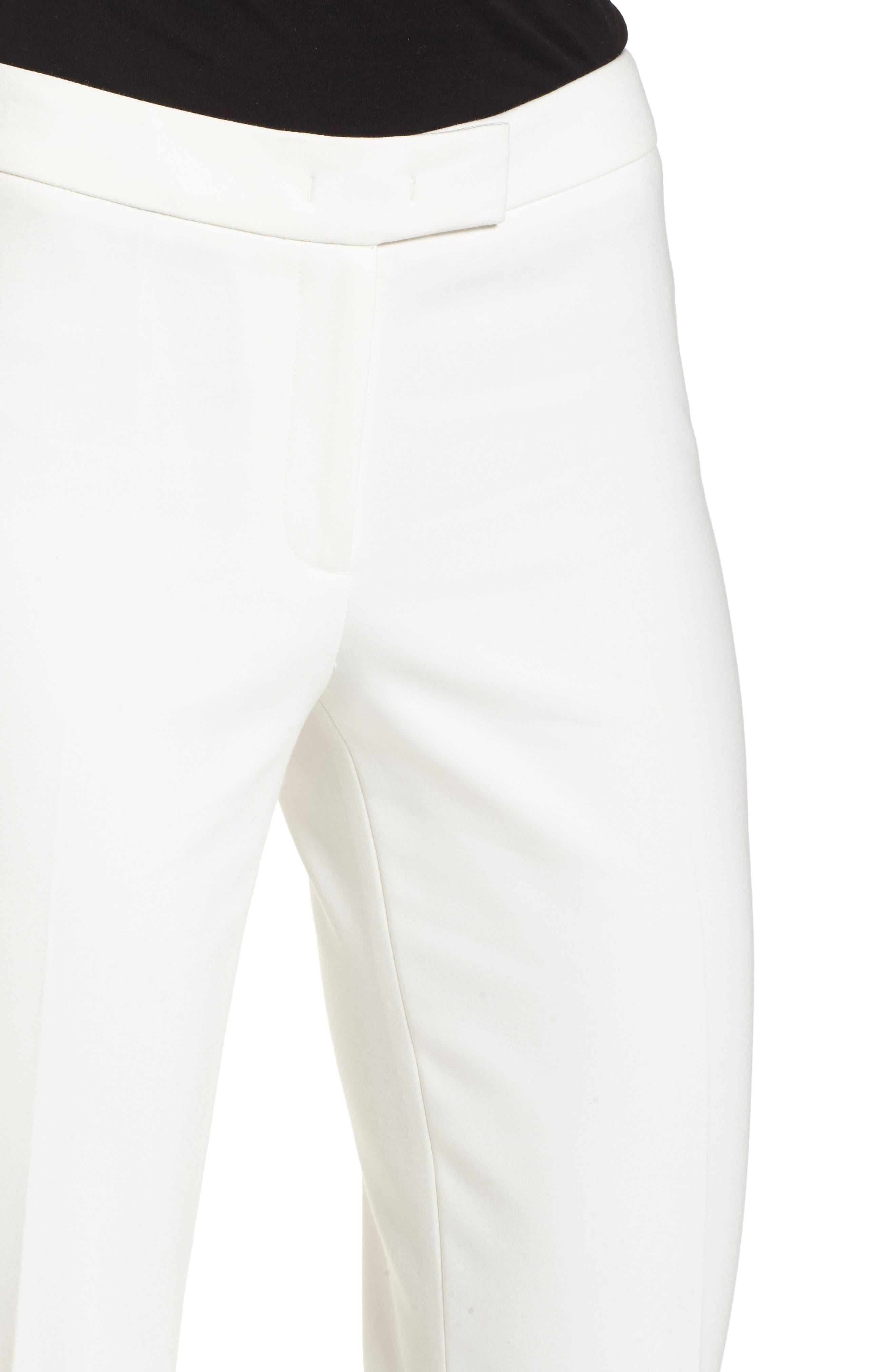Bowie Cotton Blend Suit Pants,                             Alternate thumbnail 4, color,                             WHITE