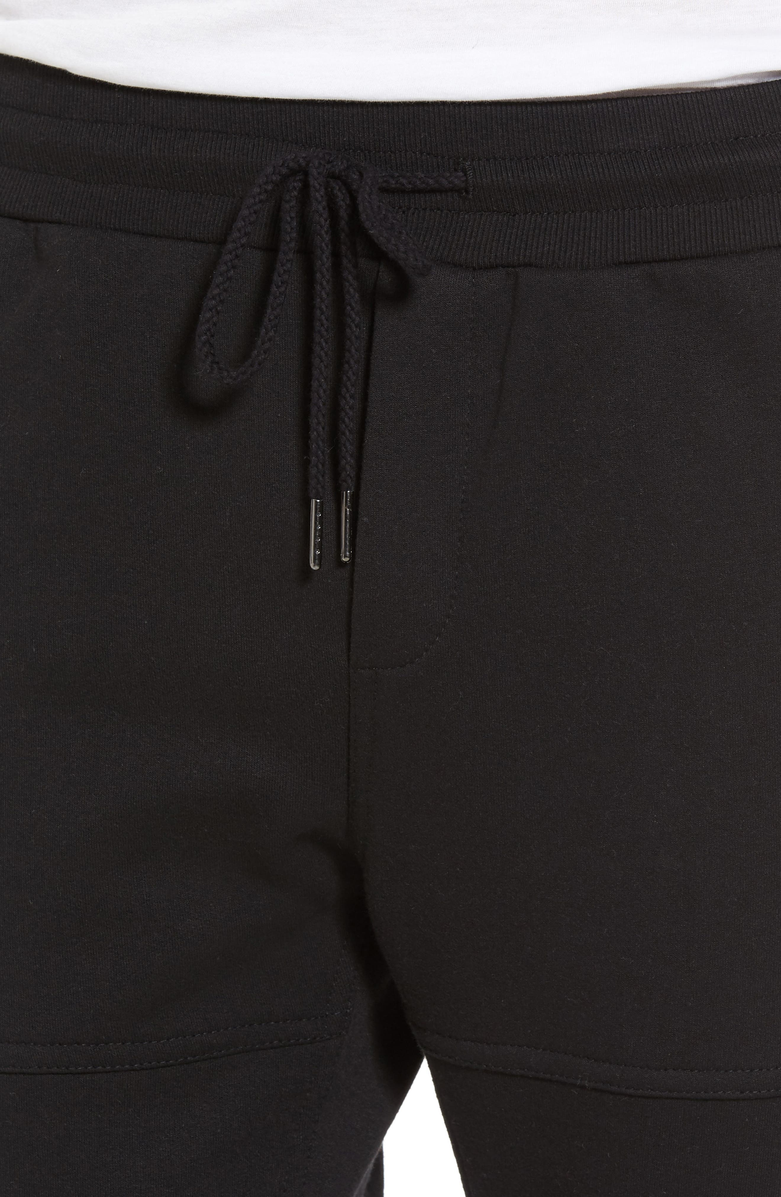 French Terry Sweatpants,                             Alternate thumbnail 4, color,                             001