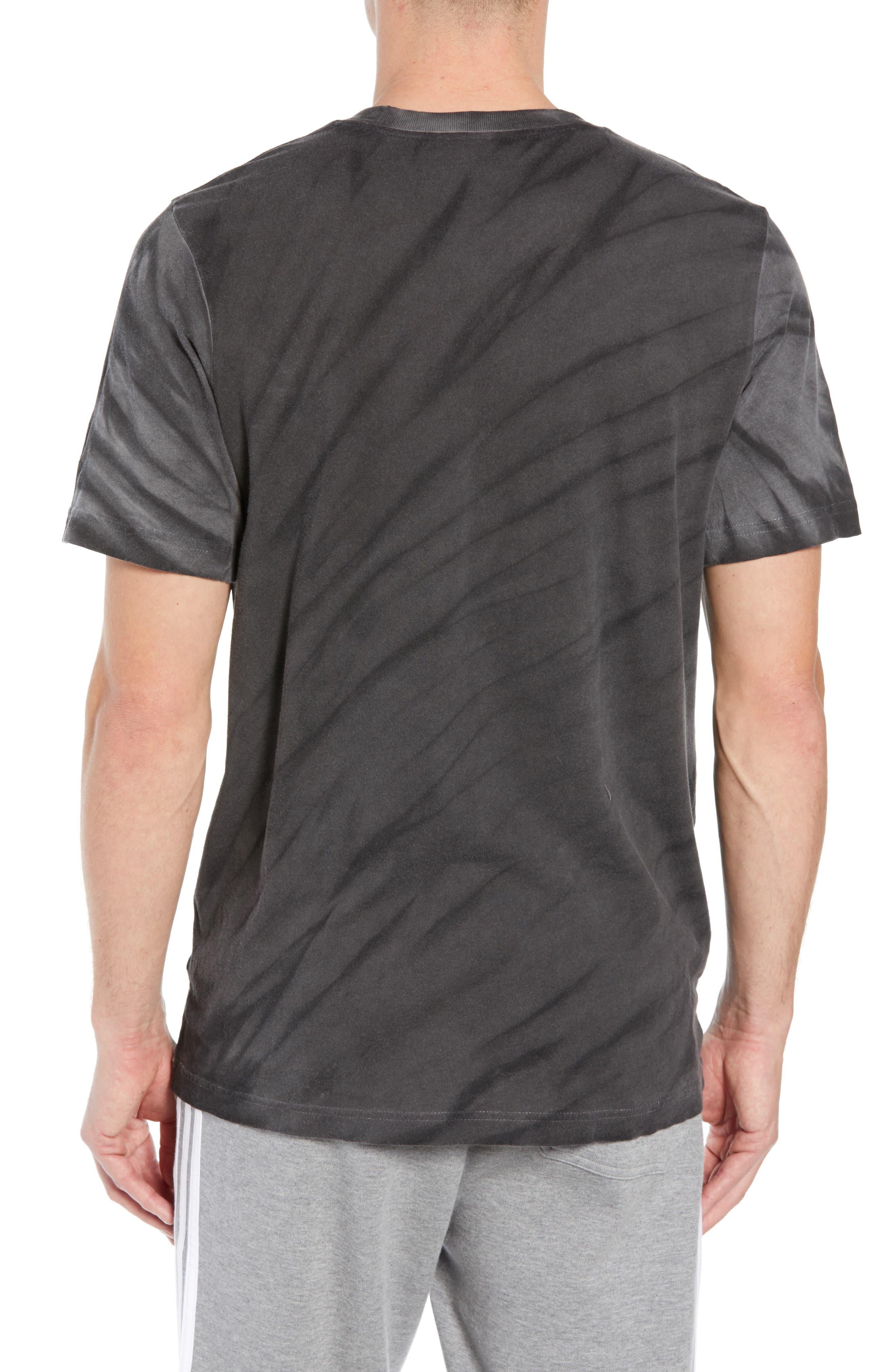 Tie Dye Logo T-Shirt,                             Alternate thumbnail 2, color,                             BLACK