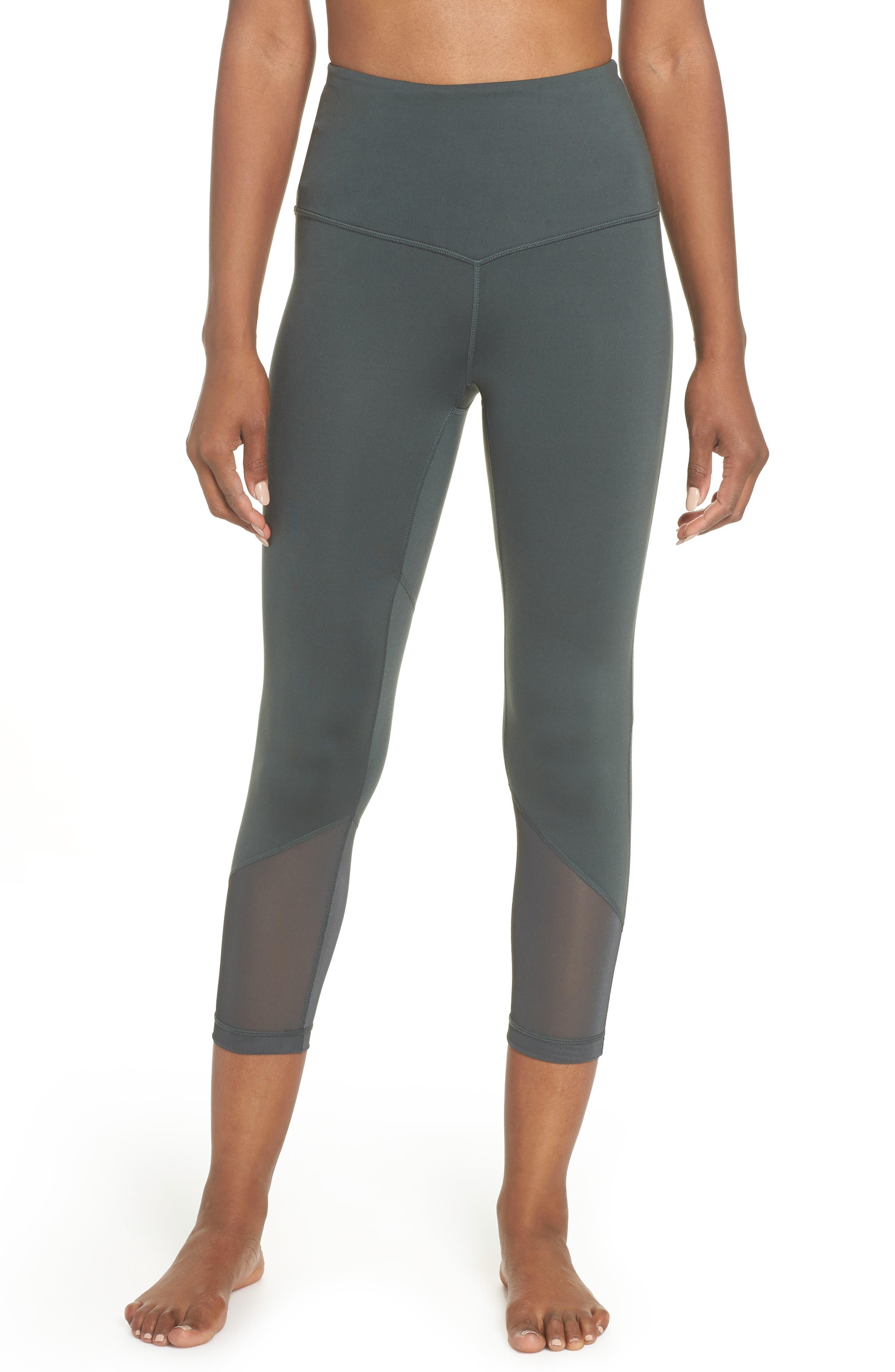 Gemini Cool Recycled Crop Leggings,                         Main,                         color, GREY URBAN
