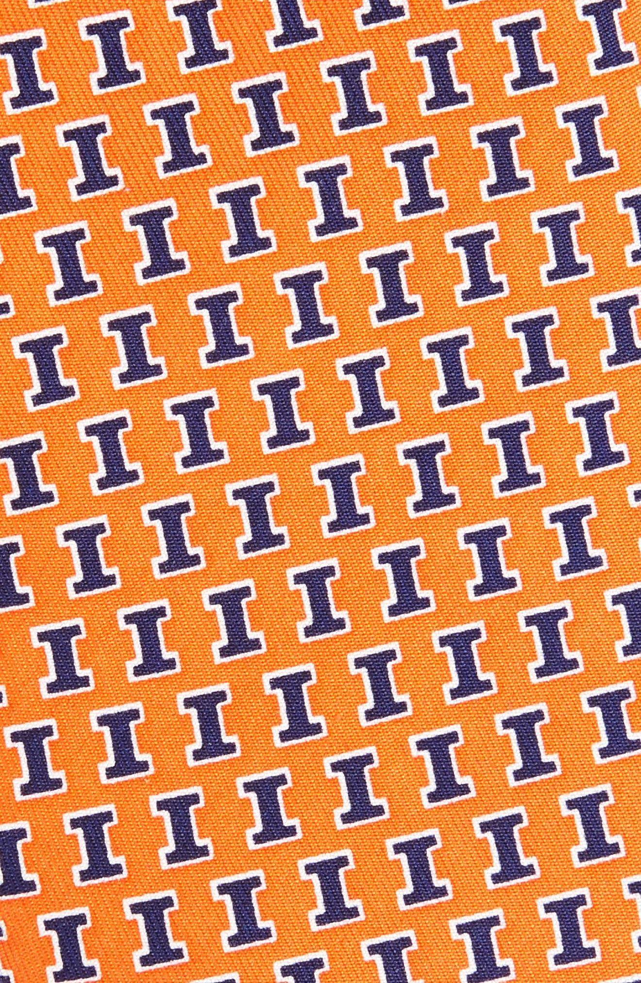 University of Illinois Silk Tie,                             Alternate thumbnail 2, color,                             800