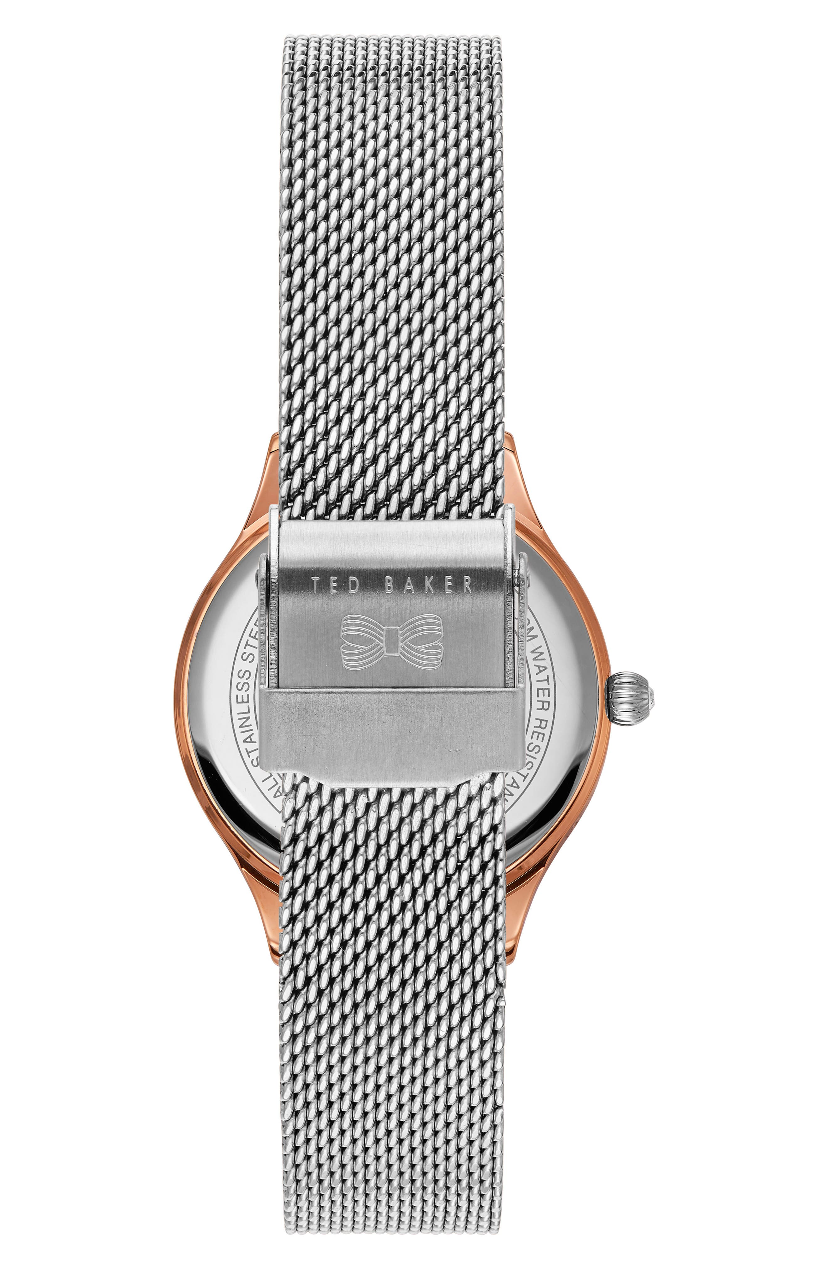 Zoe Mesh Strap Watch, 32mm,                             Alternate thumbnail 5, color,