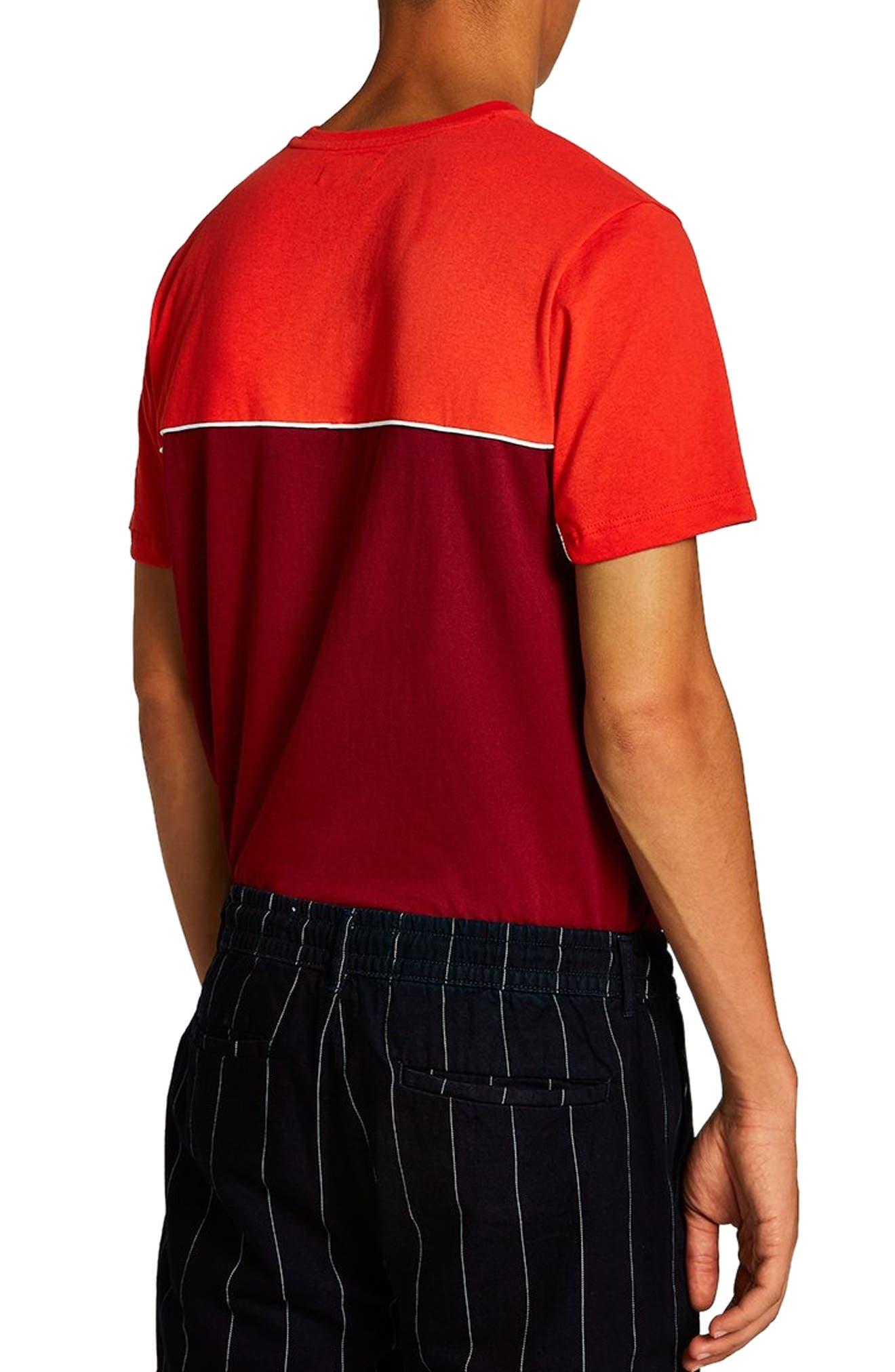 Colorblock T-Shirt,                             Alternate thumbnail 2, color,                             RED MULTI