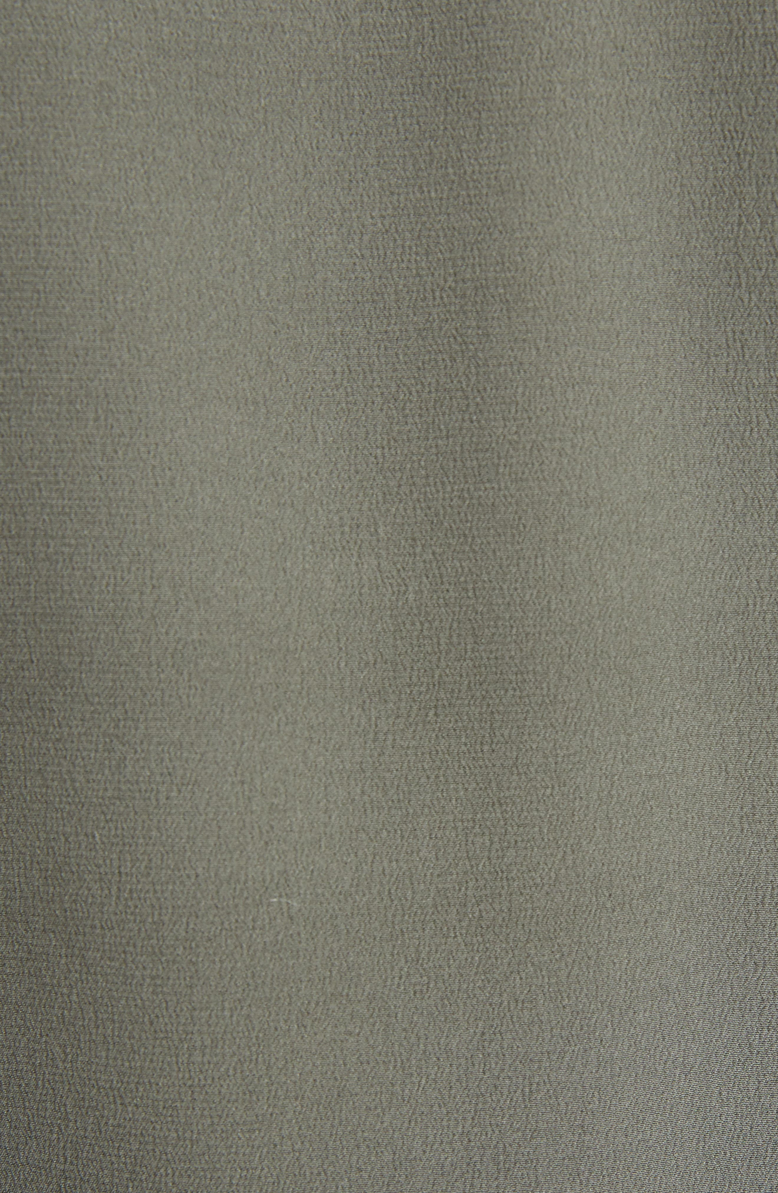 Contrast Neckline Silk Crêpe de Chine Blouse,                             Alternate thumbnail 5, color,                             400