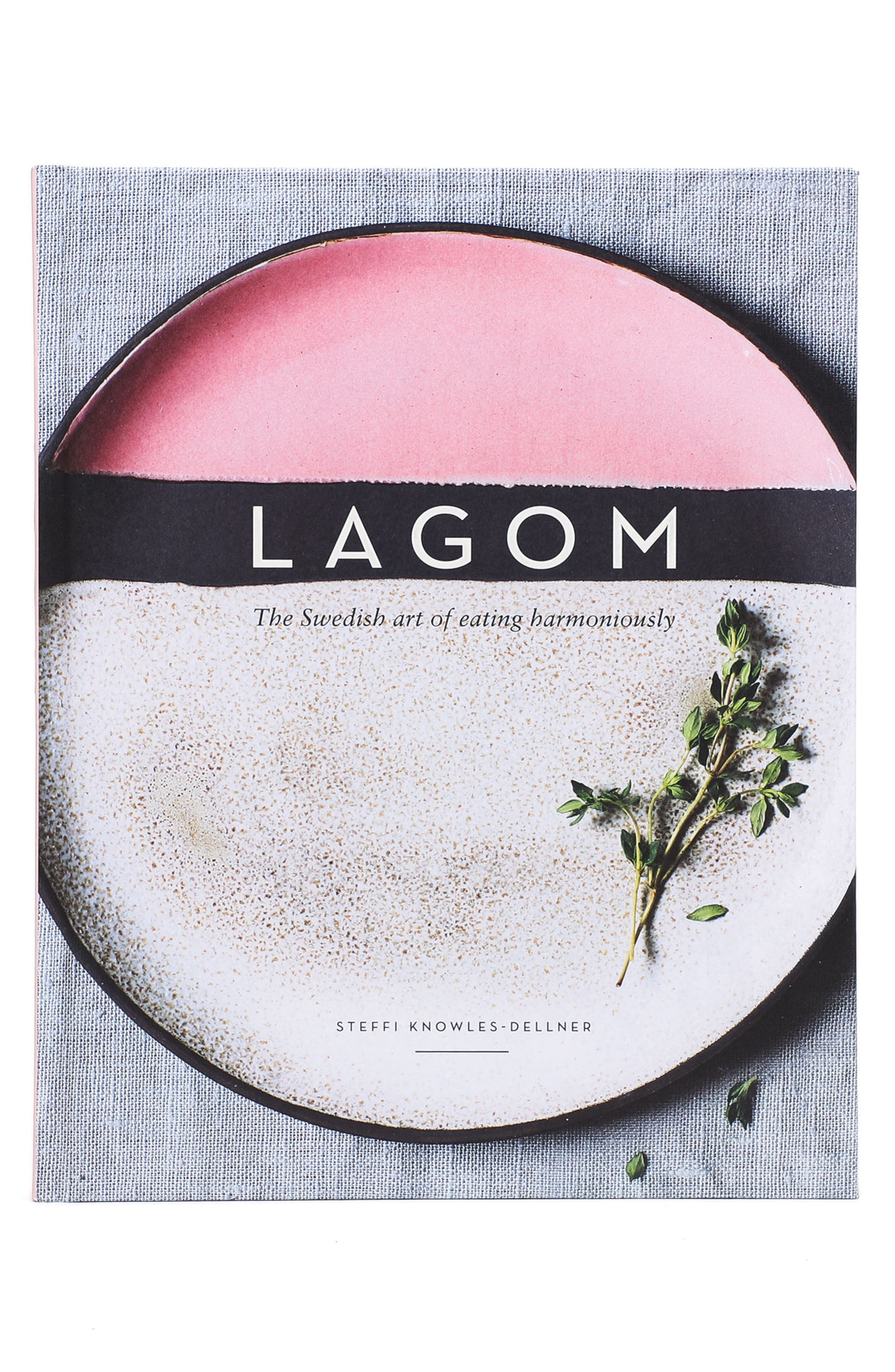 'Lagom: The Swedish Art of Eating Harmoniously' Book,                             Main thumbnail 1, color,                             PINK MULTI