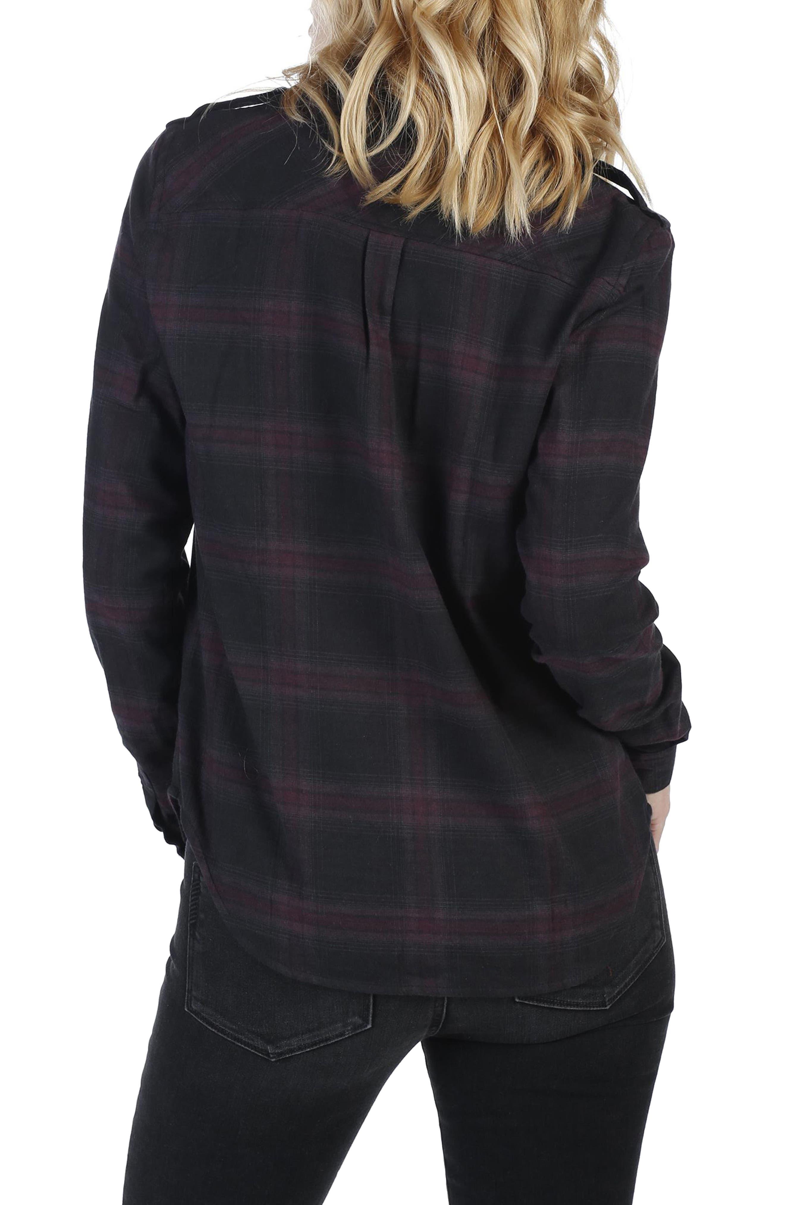 Adilene Plaid Shirt,                             Alternate thumbnail 3, color,                             001