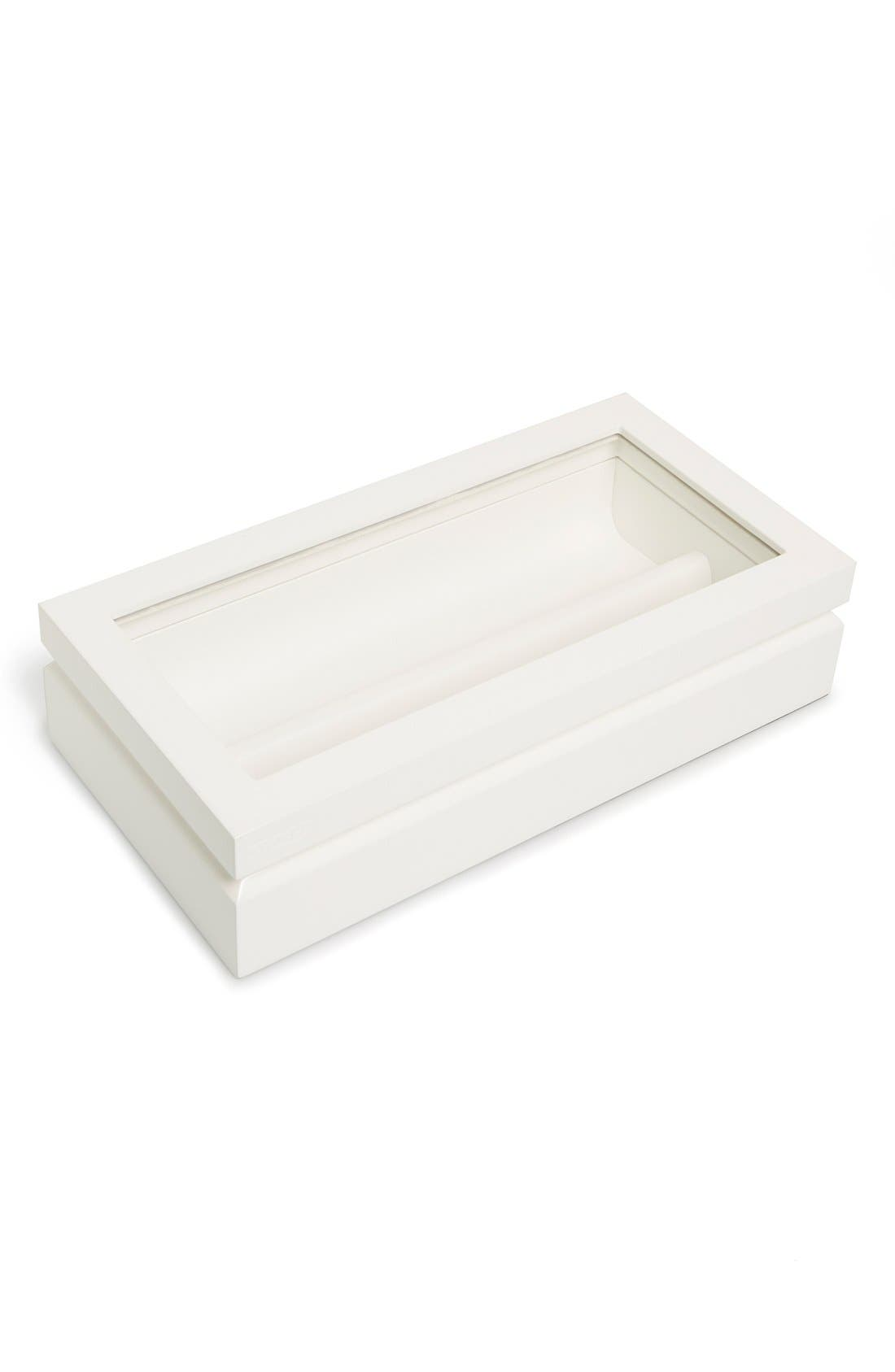 Lacquered Wood Window Top Eyewear Organizer Case,                             Main thumbnail 2, color,