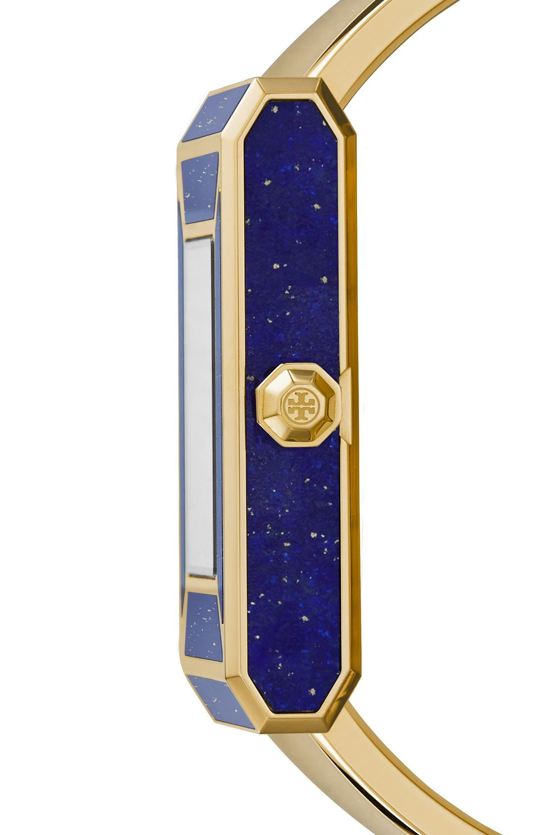 TORY BURCH,                             'Robinson' Rectangle Case Bangle Watch, 25mm x 38mm,                             Alternate thumbnail 6, color,                             710