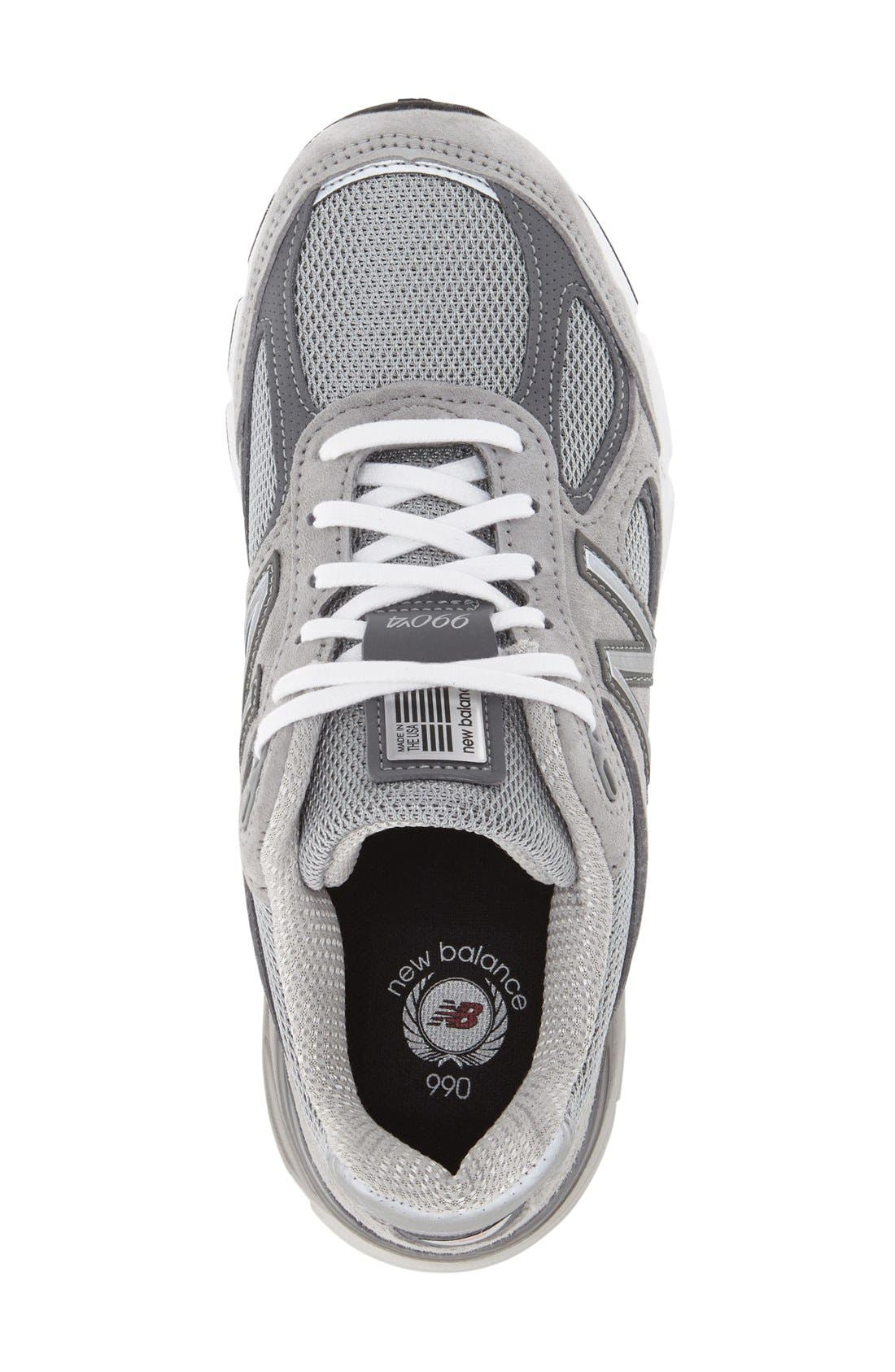 '990 Premium' Running Shoe,                             Alternate thumbnail 3, color,                             COOL GREY
