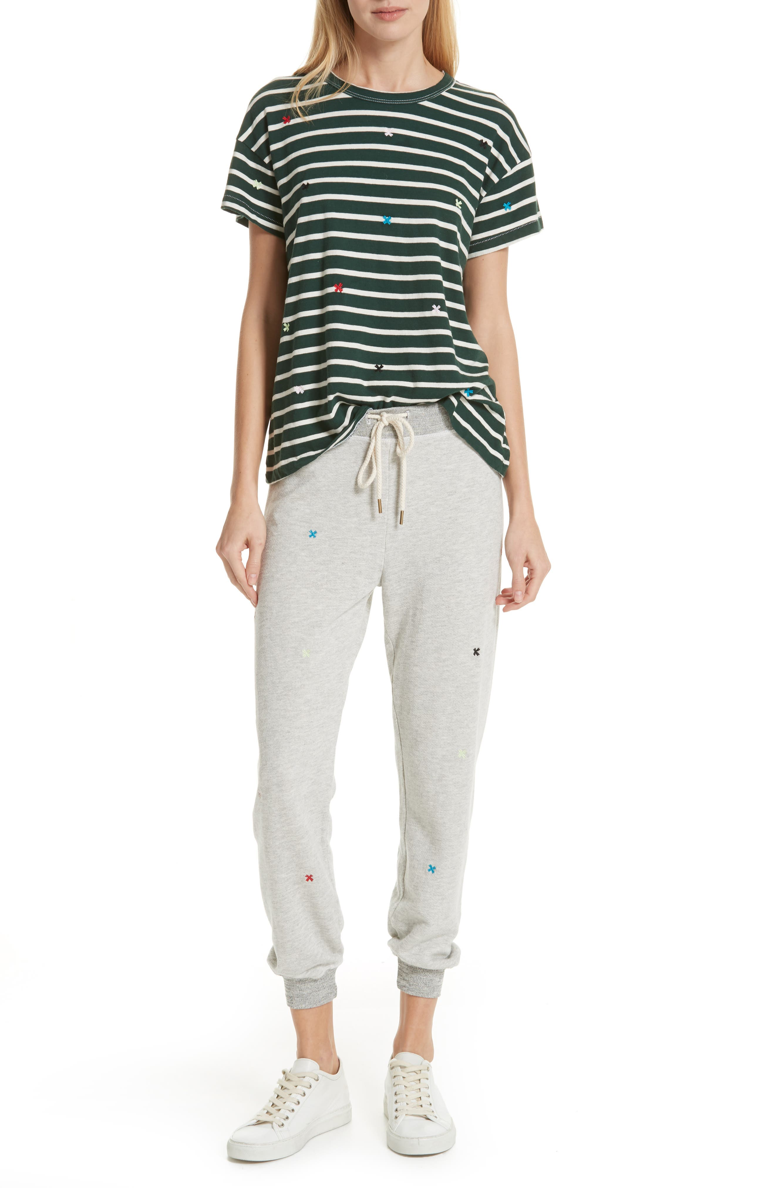 The Cropped Sweatpants,                             Alternate thumbnail 7, color,                             HEATHER GREY/ MULTI