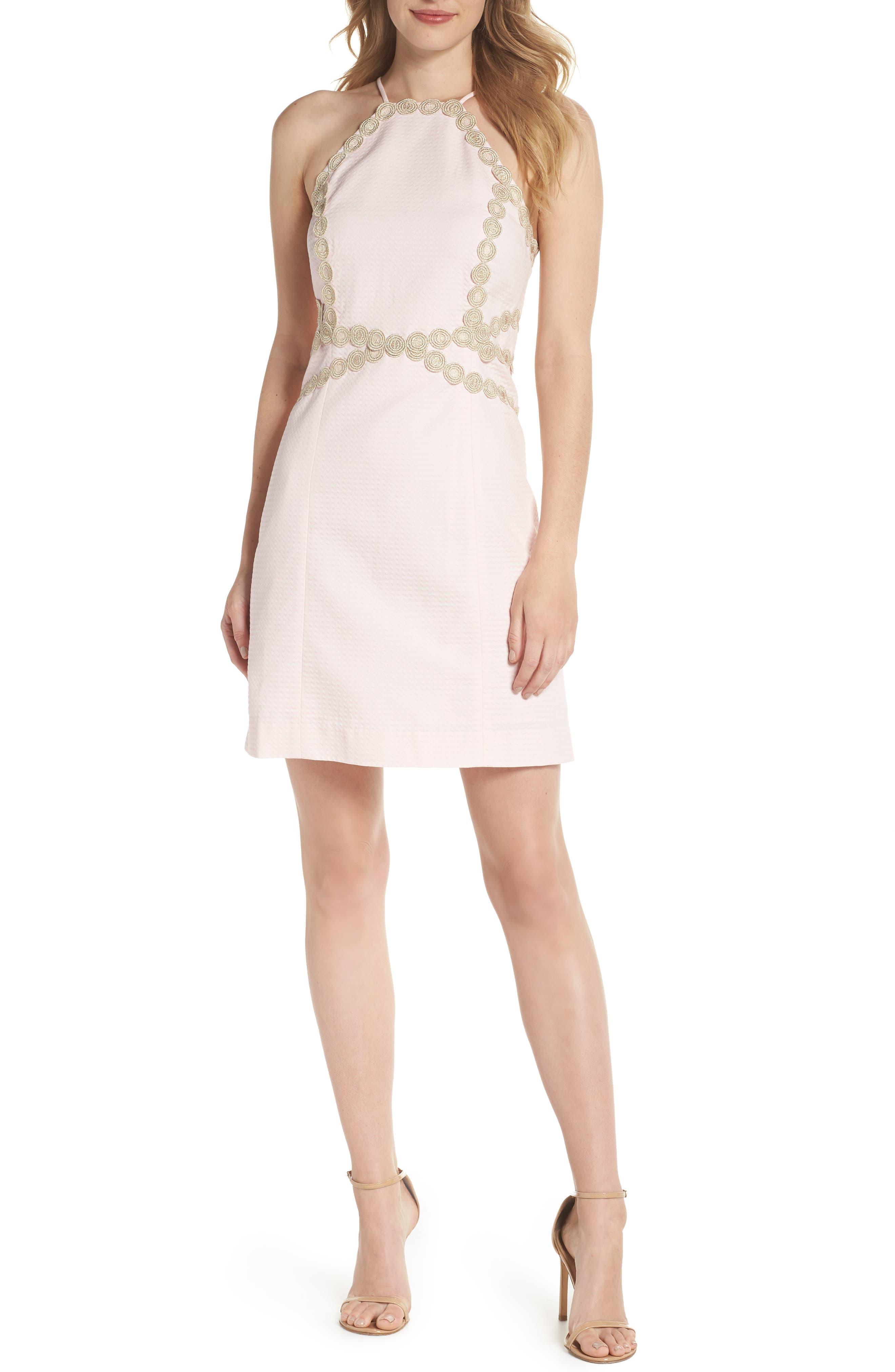 Pearl Shift Dress,                             Main thumbnail 1, color,                             PARADISE TINT