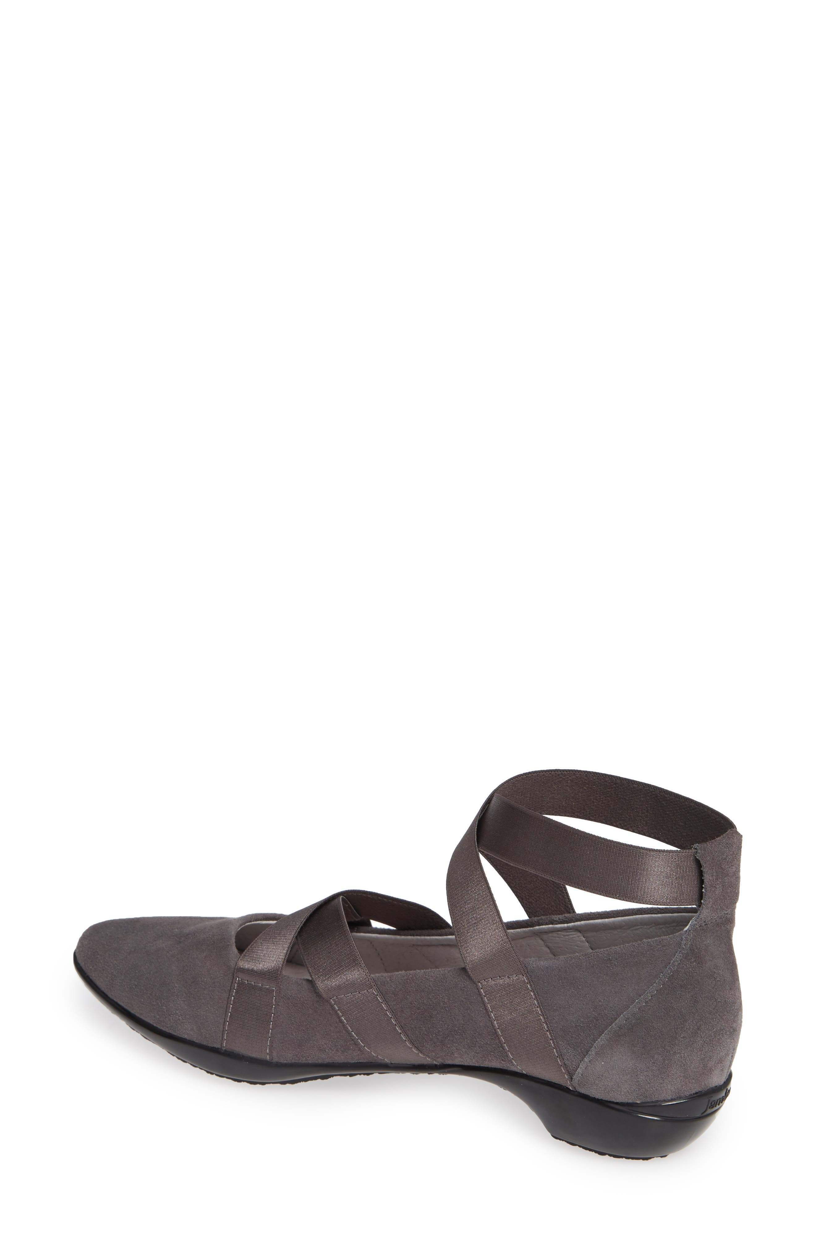 Rumson Flat,                             Alternate thumbnail 2, color,                             CHARCOAL SUEDE