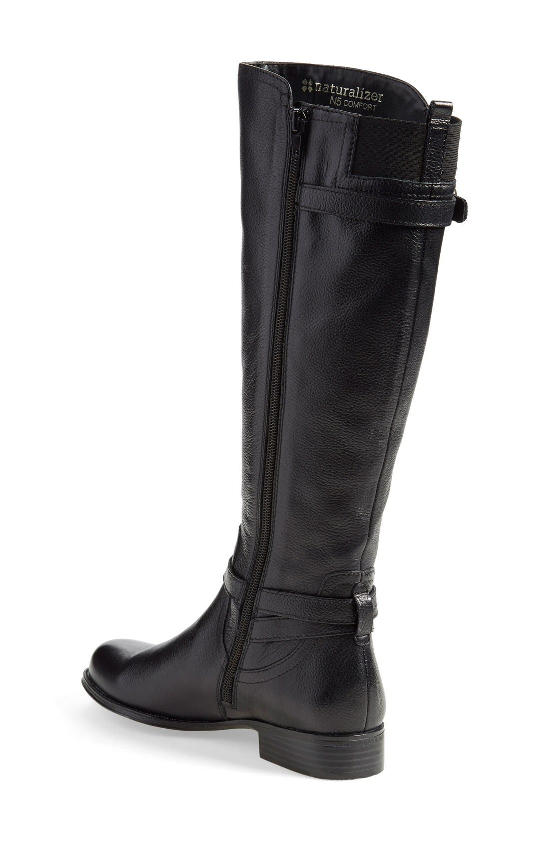 'Jennings' Knee High Boot,                             Alternate thumbnail 3, color,                             001