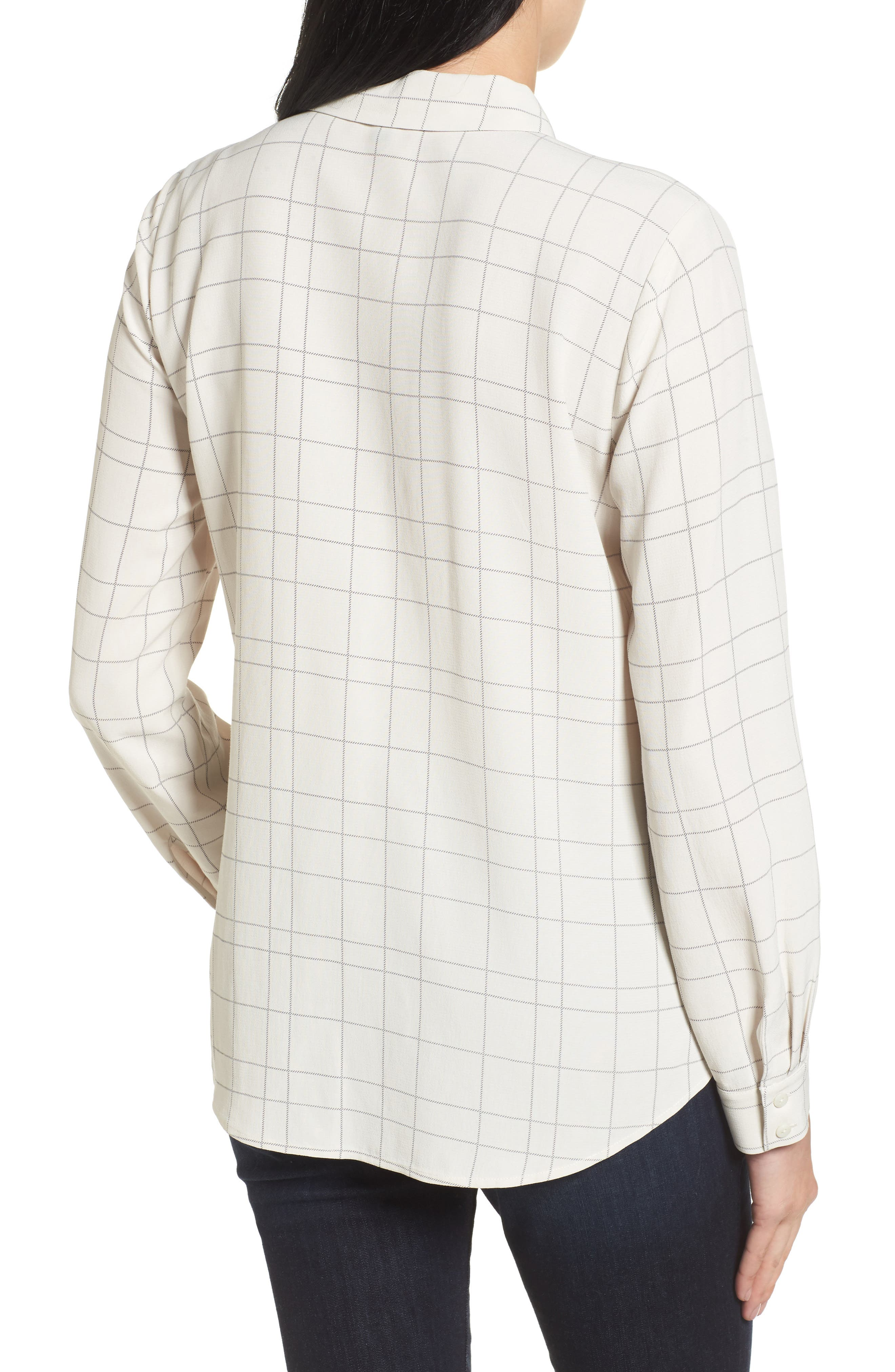 Windowpane Classic Collar Shirt,                             Alternate thumbnail 4, color,