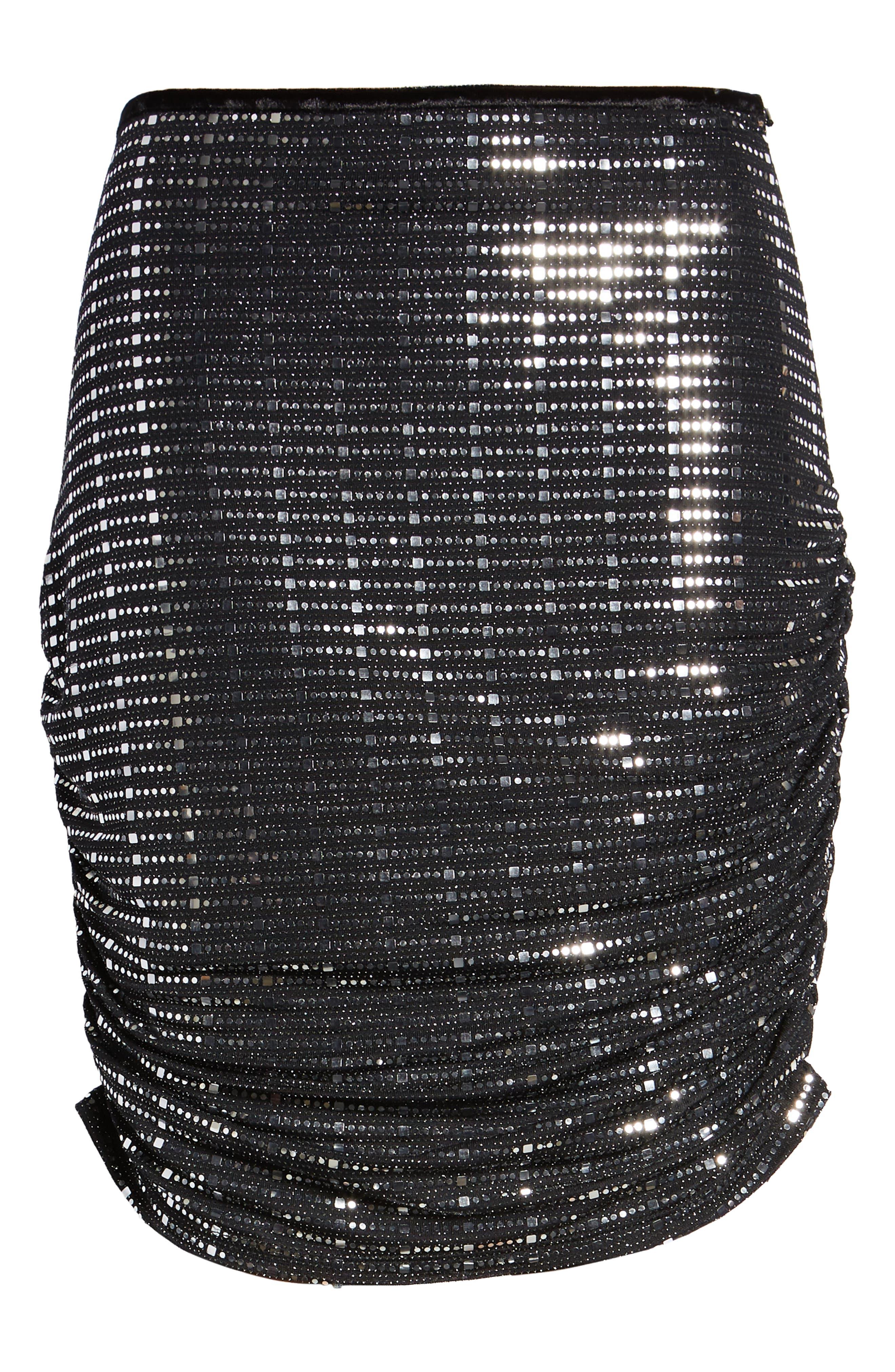 Sequin Pencil Skirt,                             Alternate thumbnail 6, color,                             020