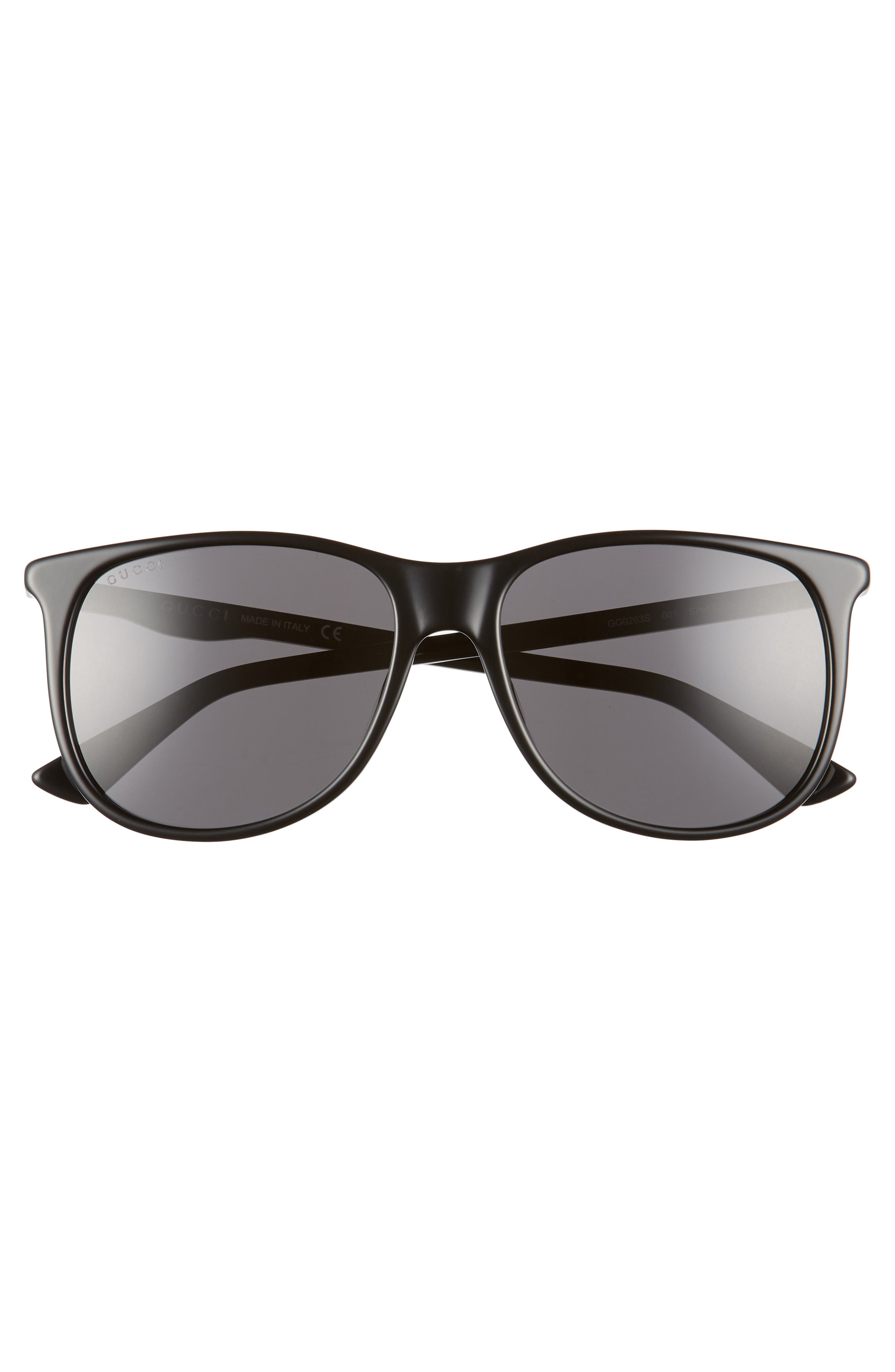 80s 56mm Sunglasses,                             Alternate thumbnail 2, color,                             BLACK