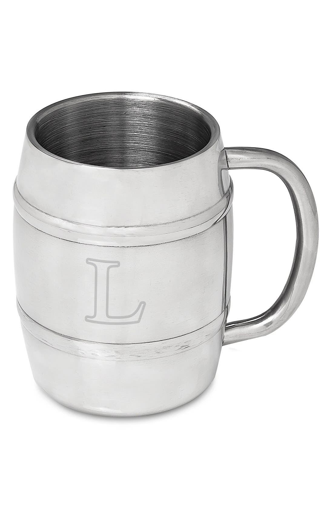 Monogram Stainless Steel Keg Mug,                             Main thumbnail 14, color,