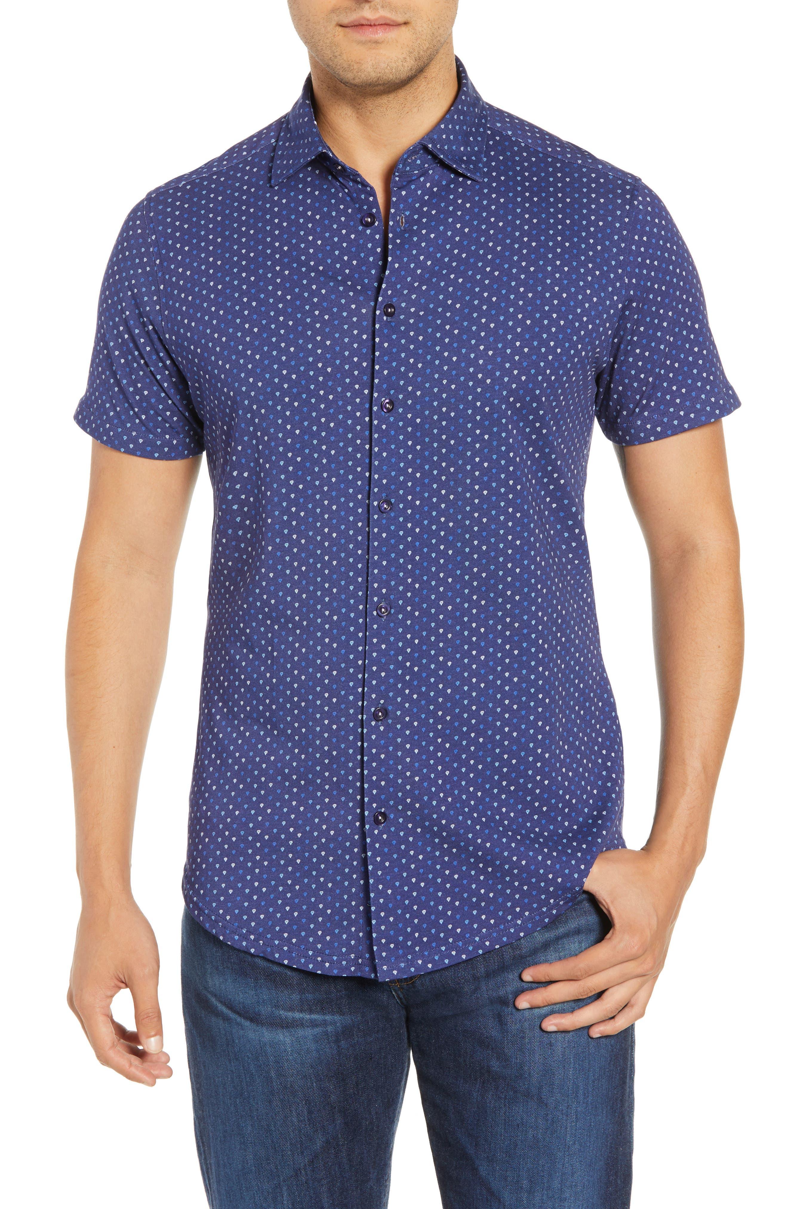 Regular Fit Sport Shirt,                         Main,                         color, NAVY