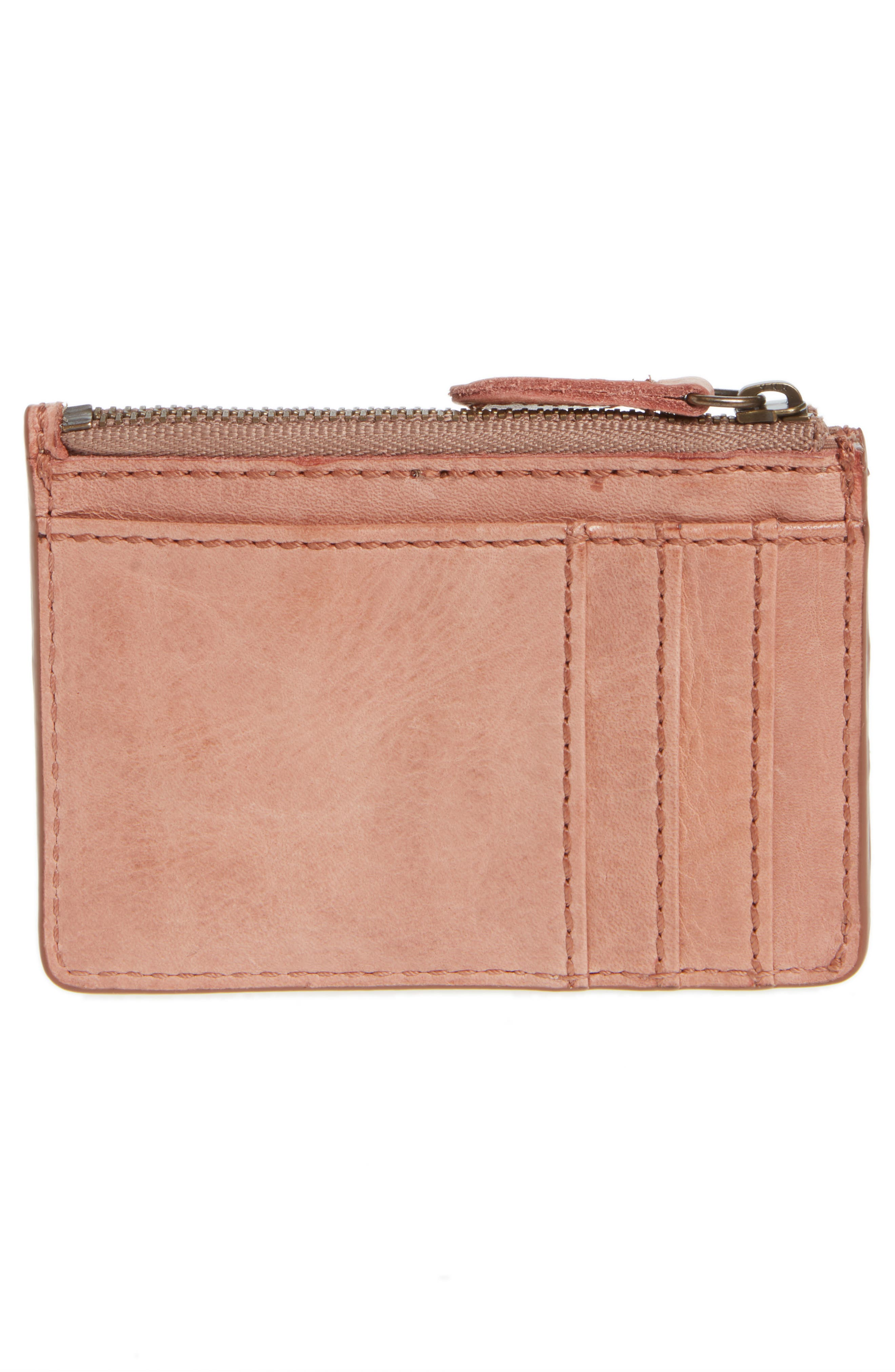 Melissa Leather Card Holder with Key Ring,                             Alternate thumbnail 8, color,