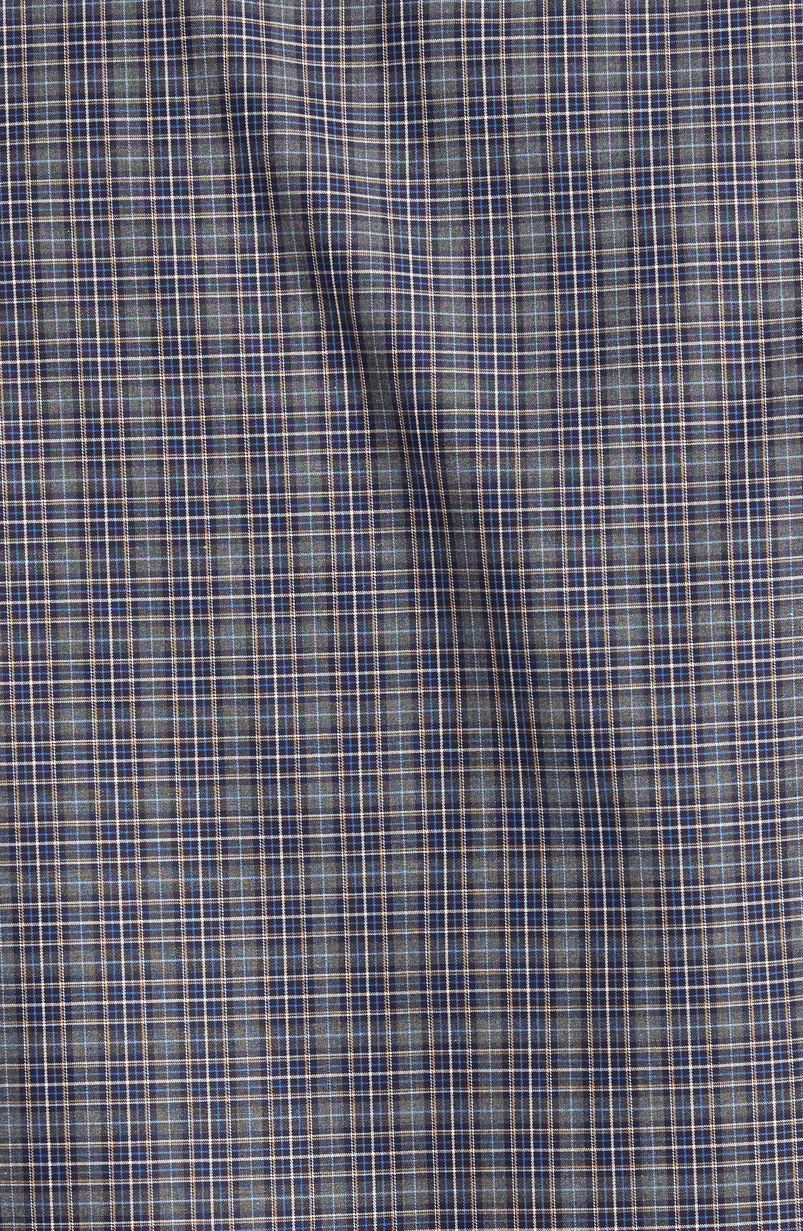 Meadows Mélange Regular Fit Check Sport Shirt,                             Alternate thumbnail 5, color,