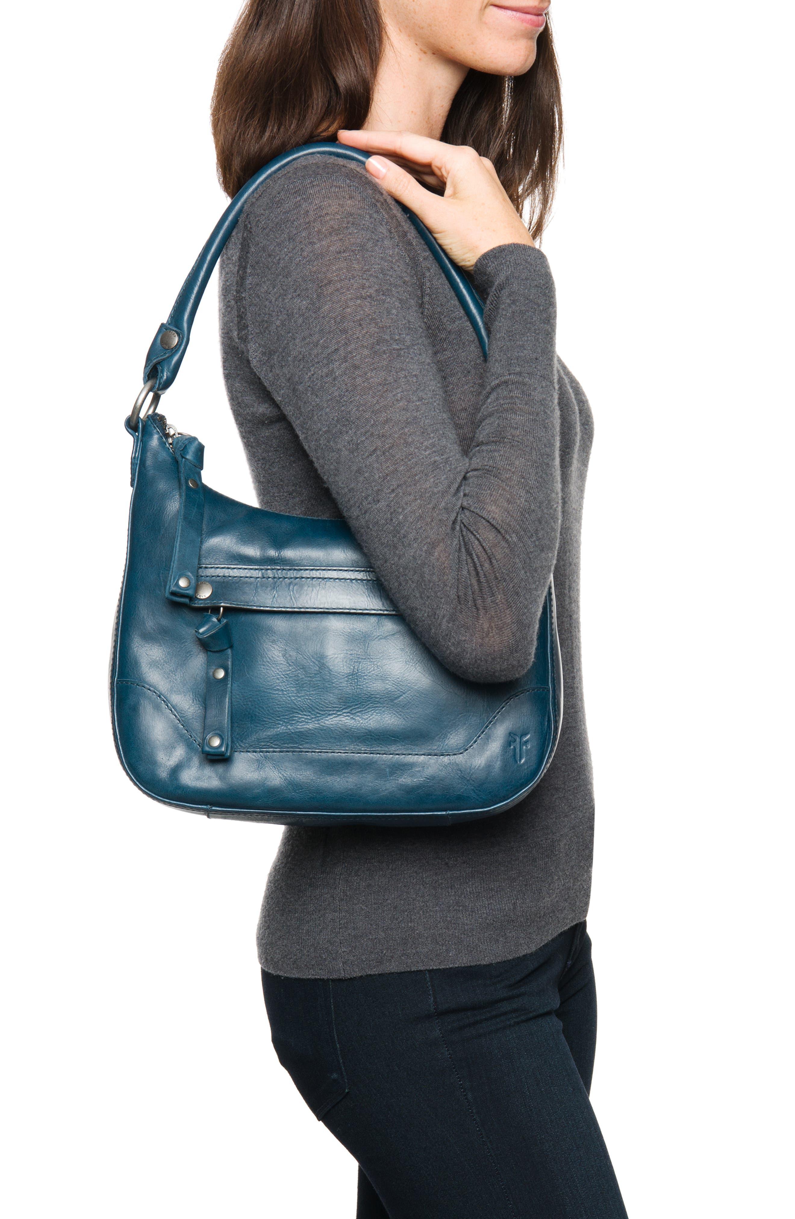 Small Melissa Leather Hobo Bag,                             Alternate thumbnail 4, color,