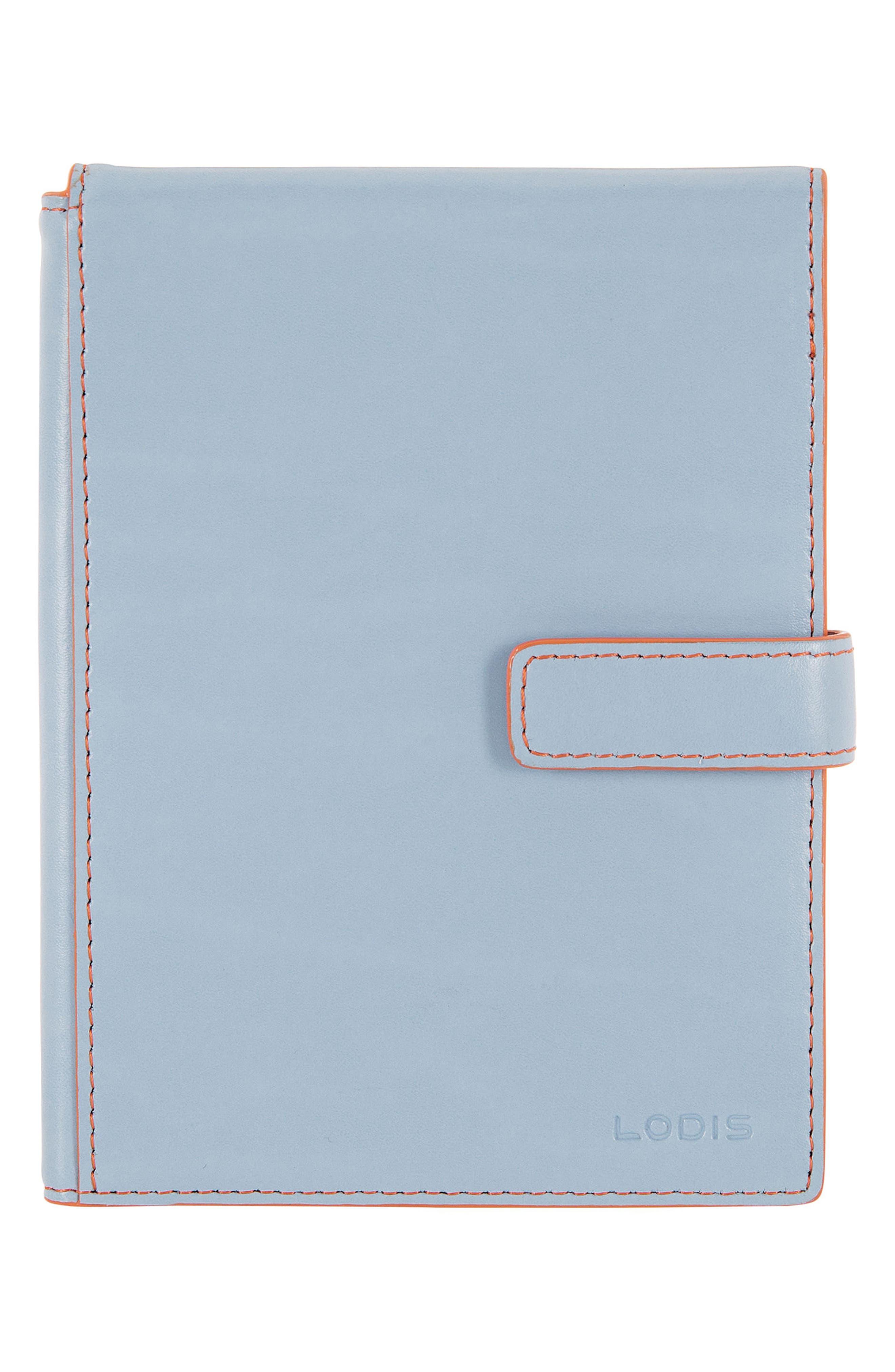 Audrey RFID Leather Passport Wallet,                             Main thumbnail 1, color,                             400