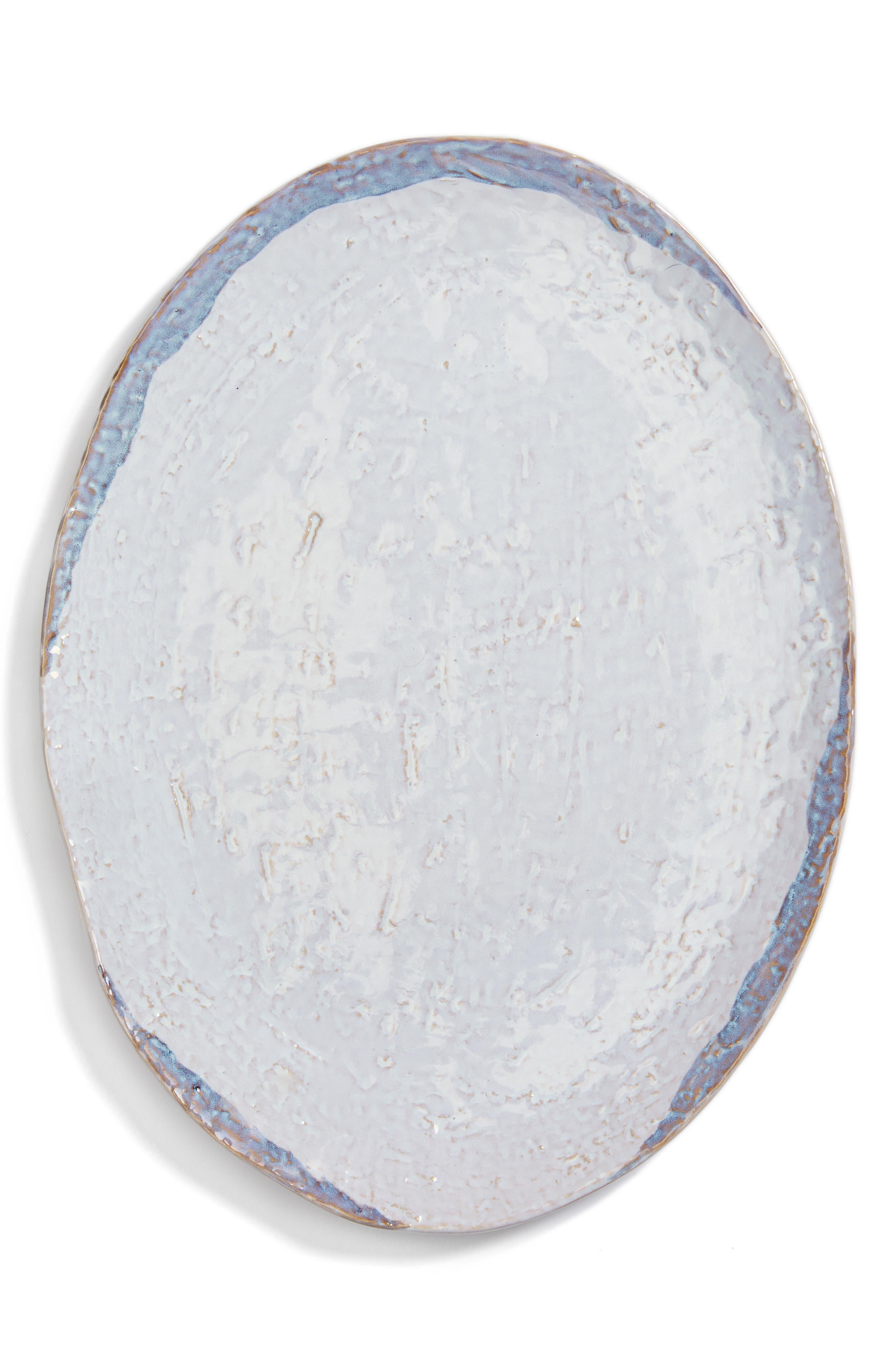 Watercolor Ceramic Serving Plate,                         Main,                         color, 900