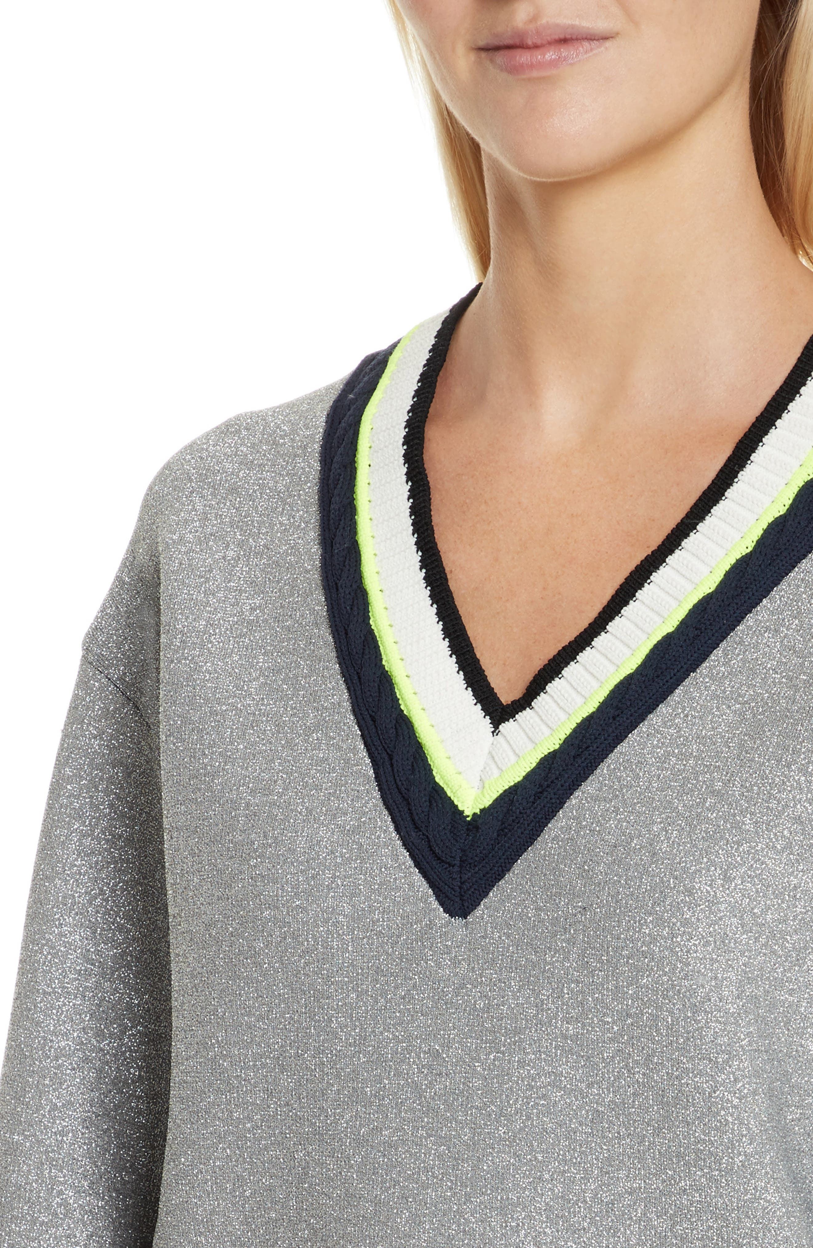 Sport Cable Neck Sweater,                             Alternate thumbnail 4, color,
