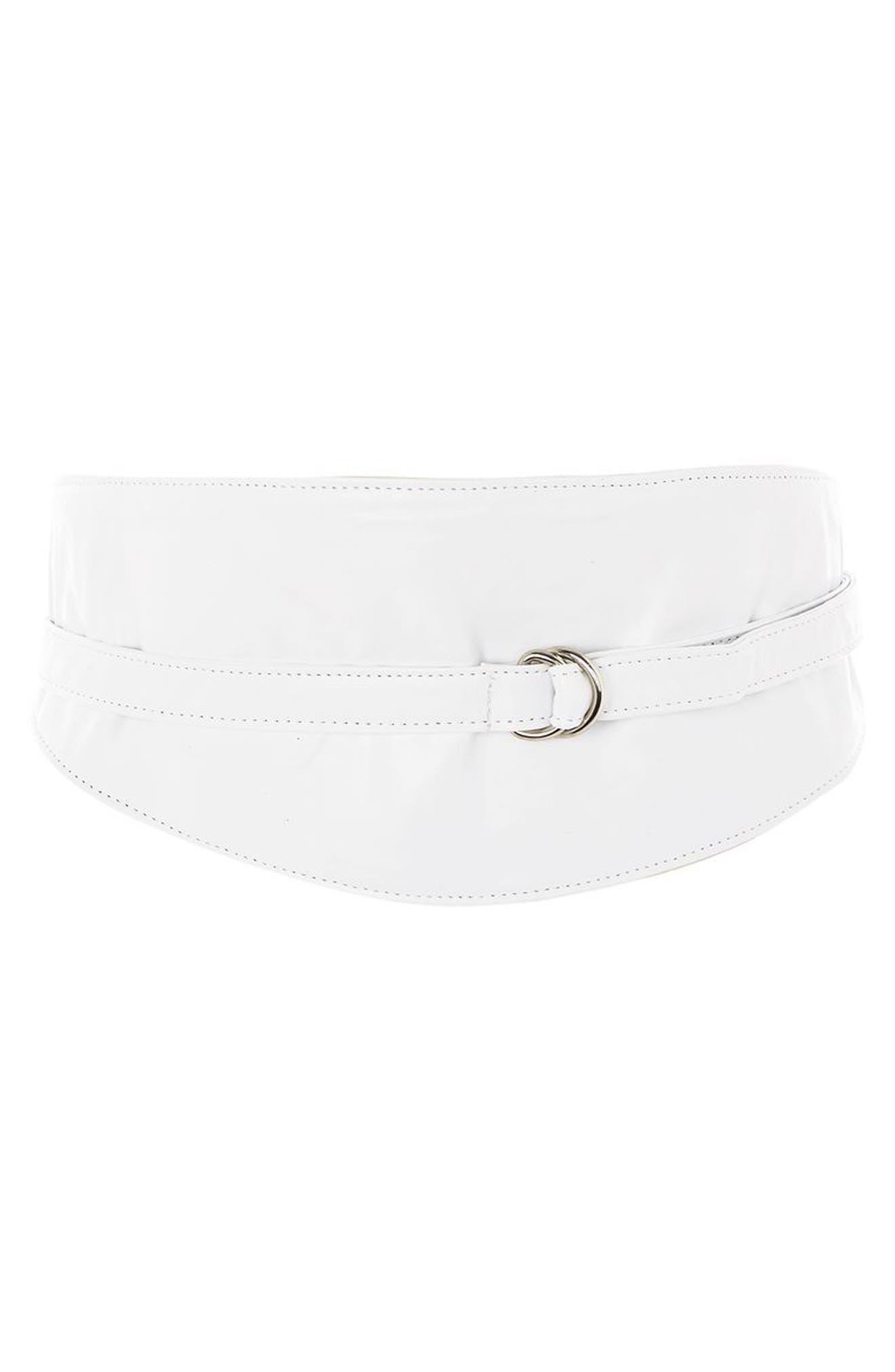 Faux Leather Obi Wrap Belt,                             Main thumbnail 1, color,                             100