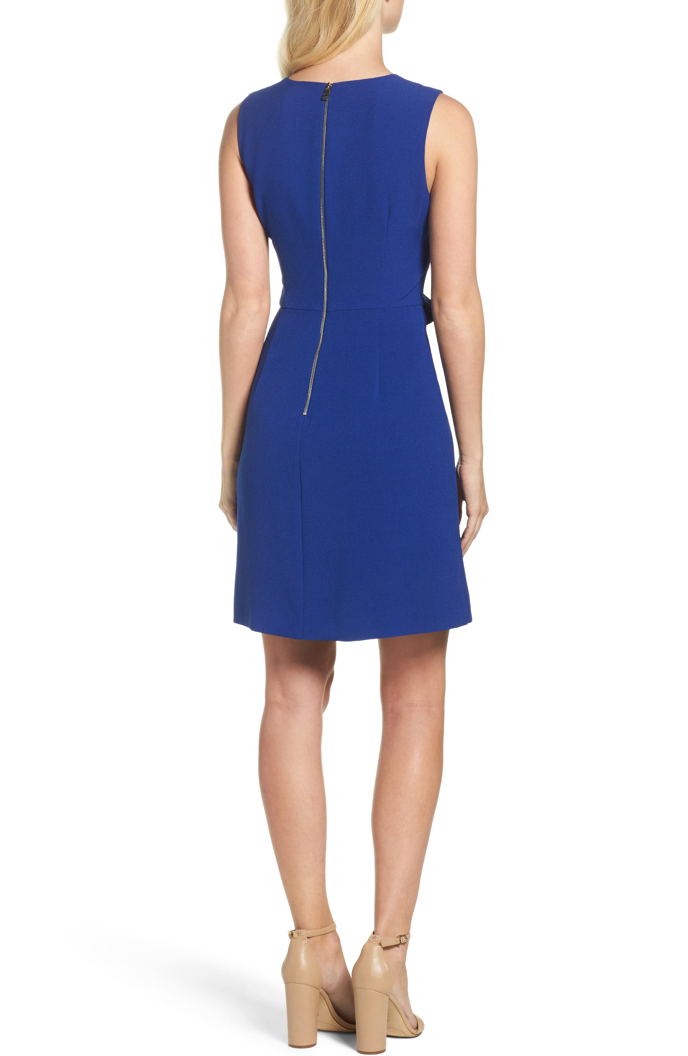 Ruffle Sheath Dress,                             Alternate thumbnail 2, color,                             498