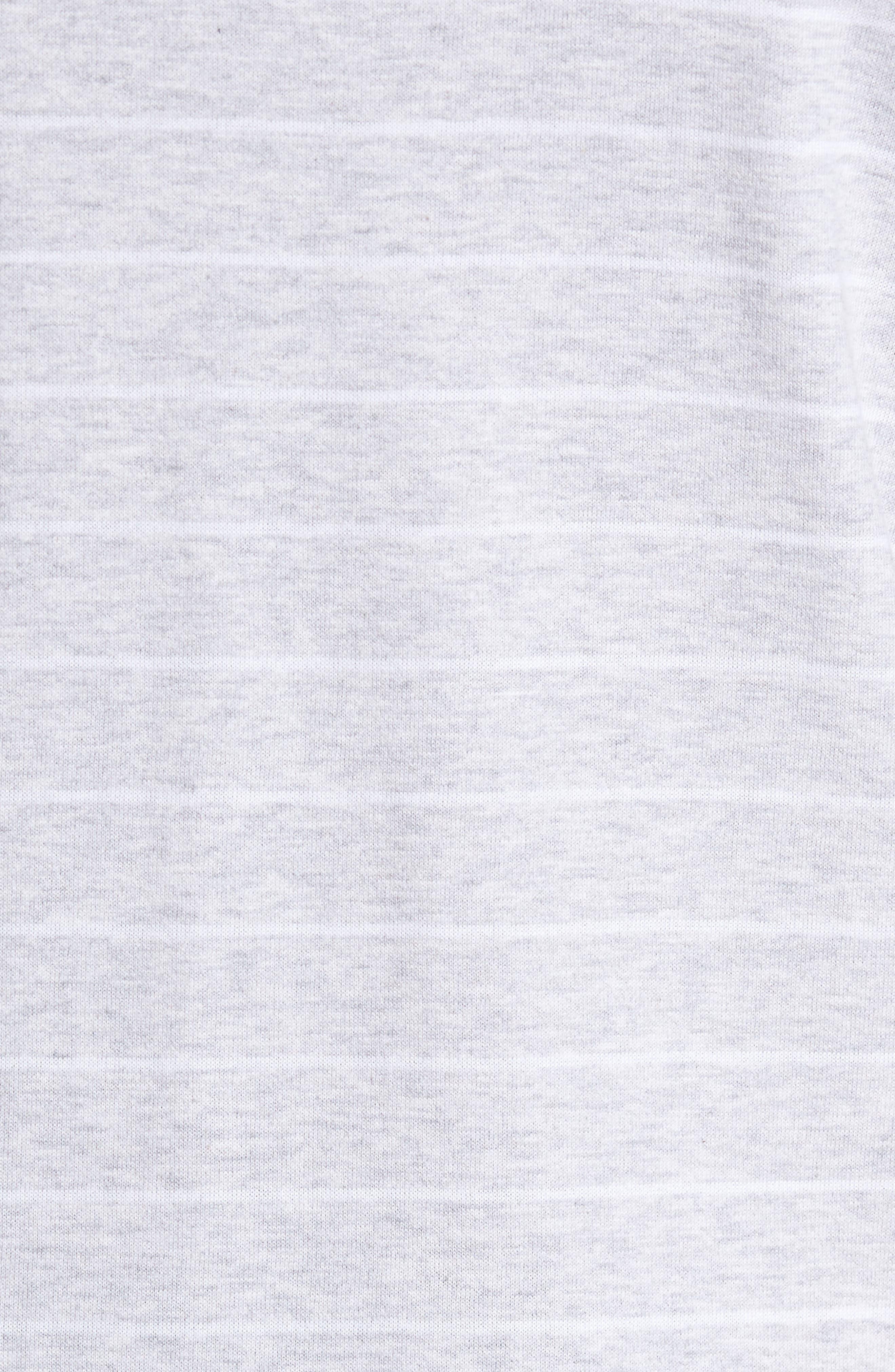 Stripe Crewneck Polo Shirt,                             Alternate thumbnail 5, color,                             020