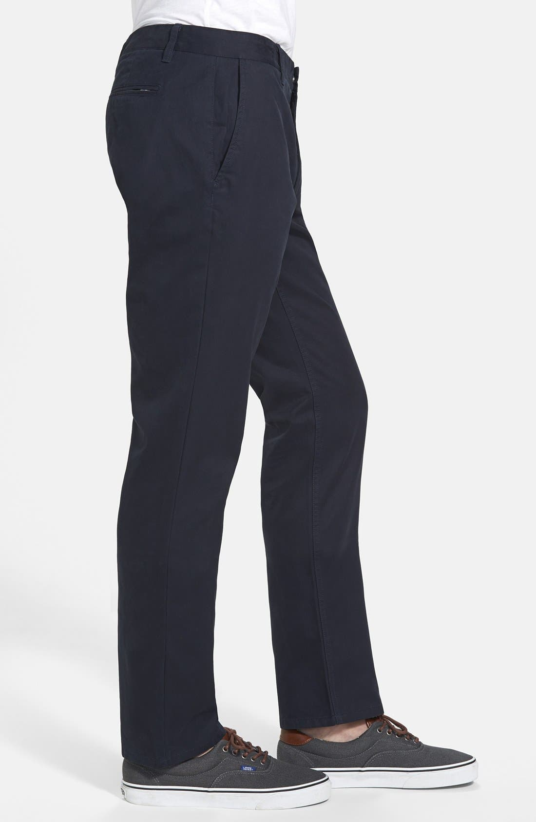Slim Fit Washed Chinos,                             Alternate thumbnail 4, color,                             400