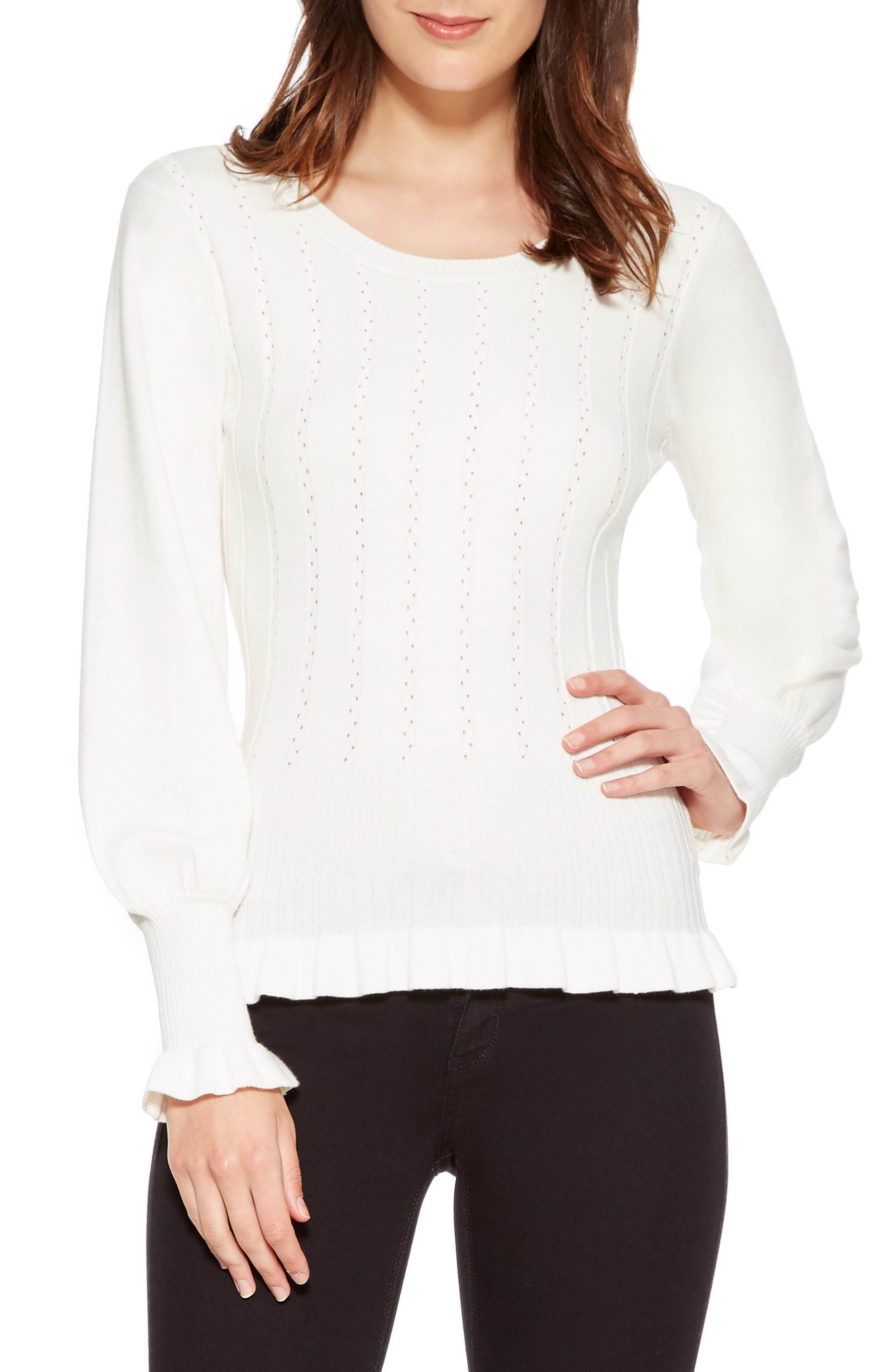 Henri Blouson Sleeve Sweater,                         Main,                         color, IVORY